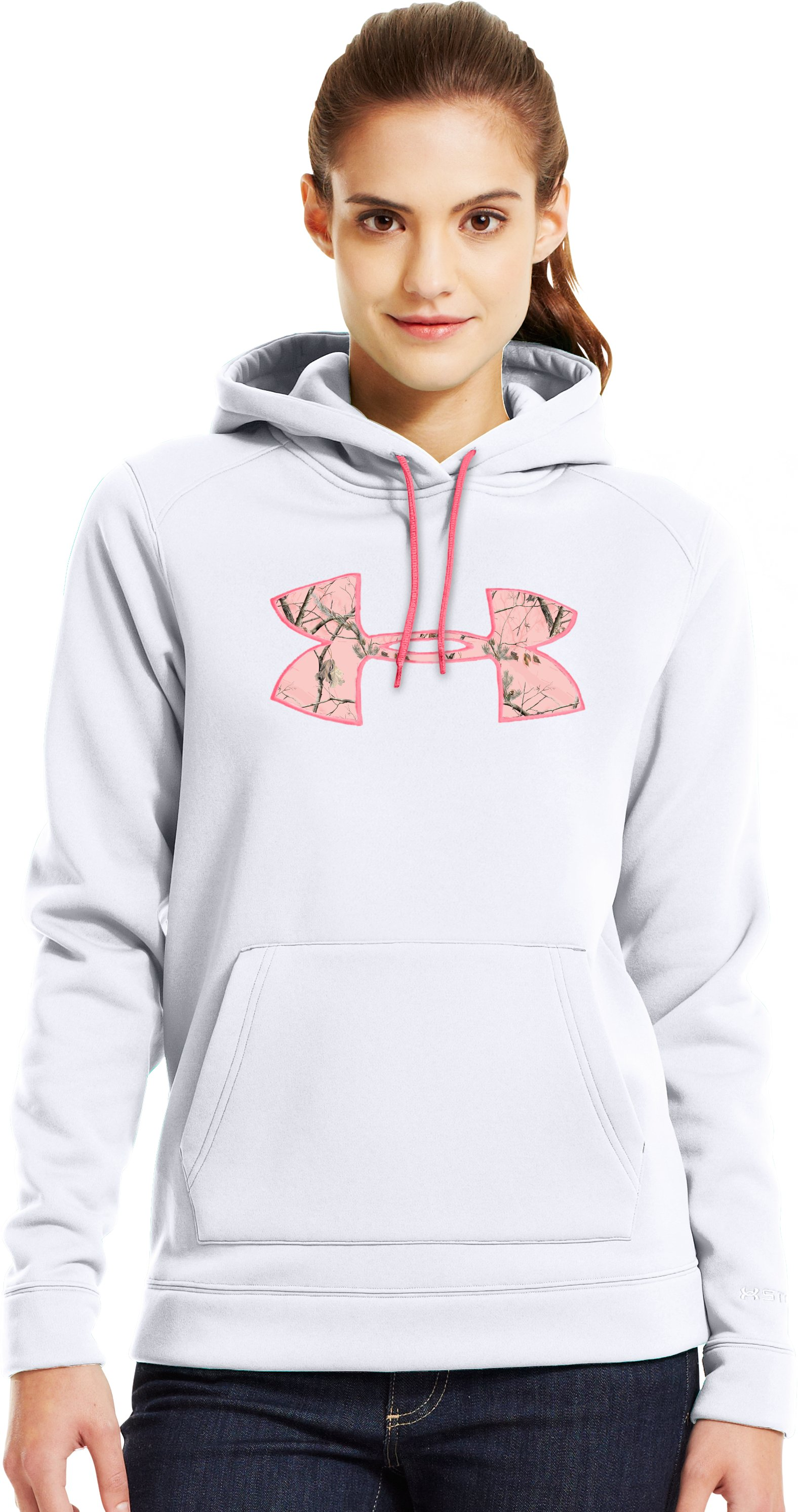 Women's UA Storm Tackle Twill Hoodie, White