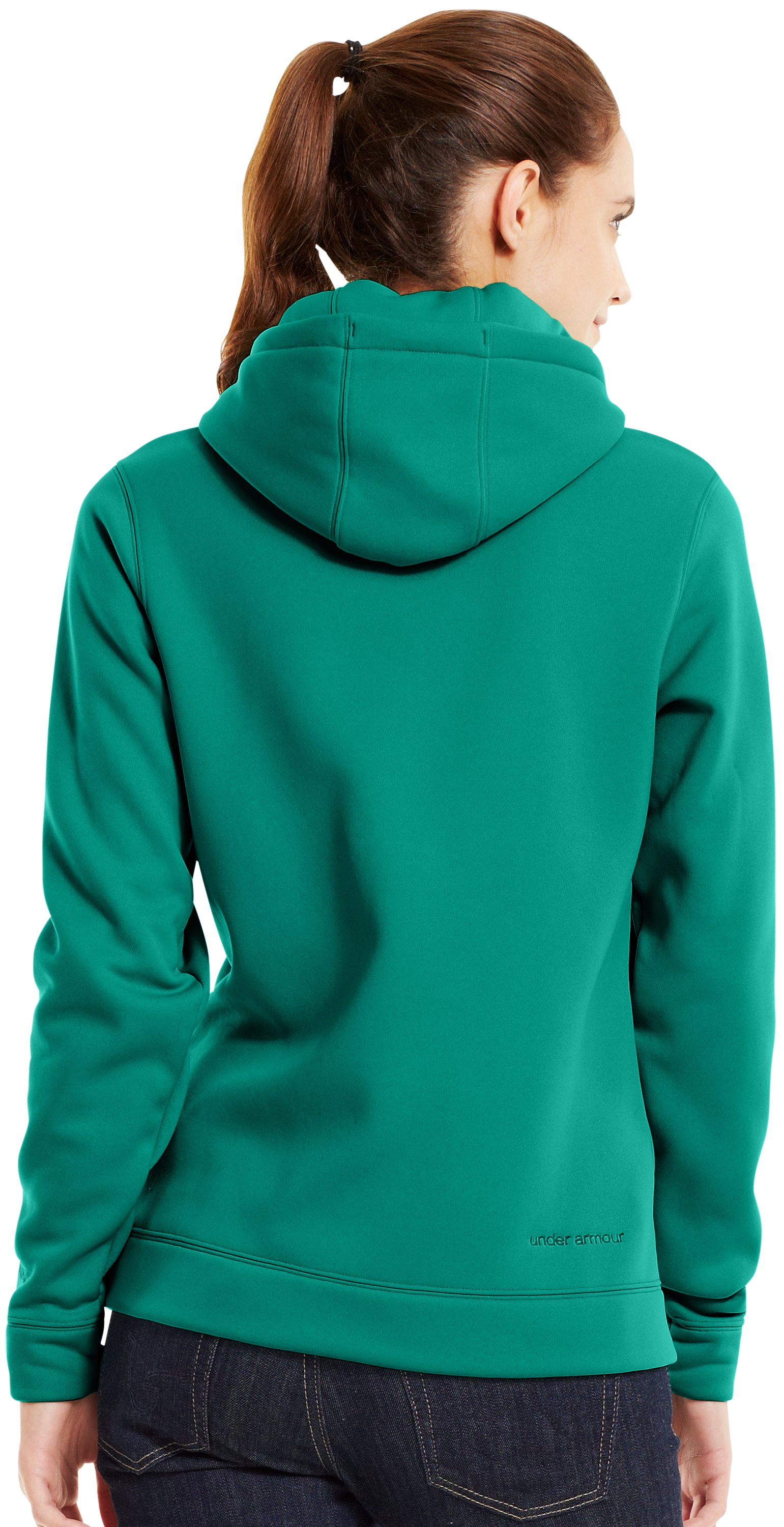 Women's UA Storm Tackle Twill Hoodie, NIGHTSHADE, Back