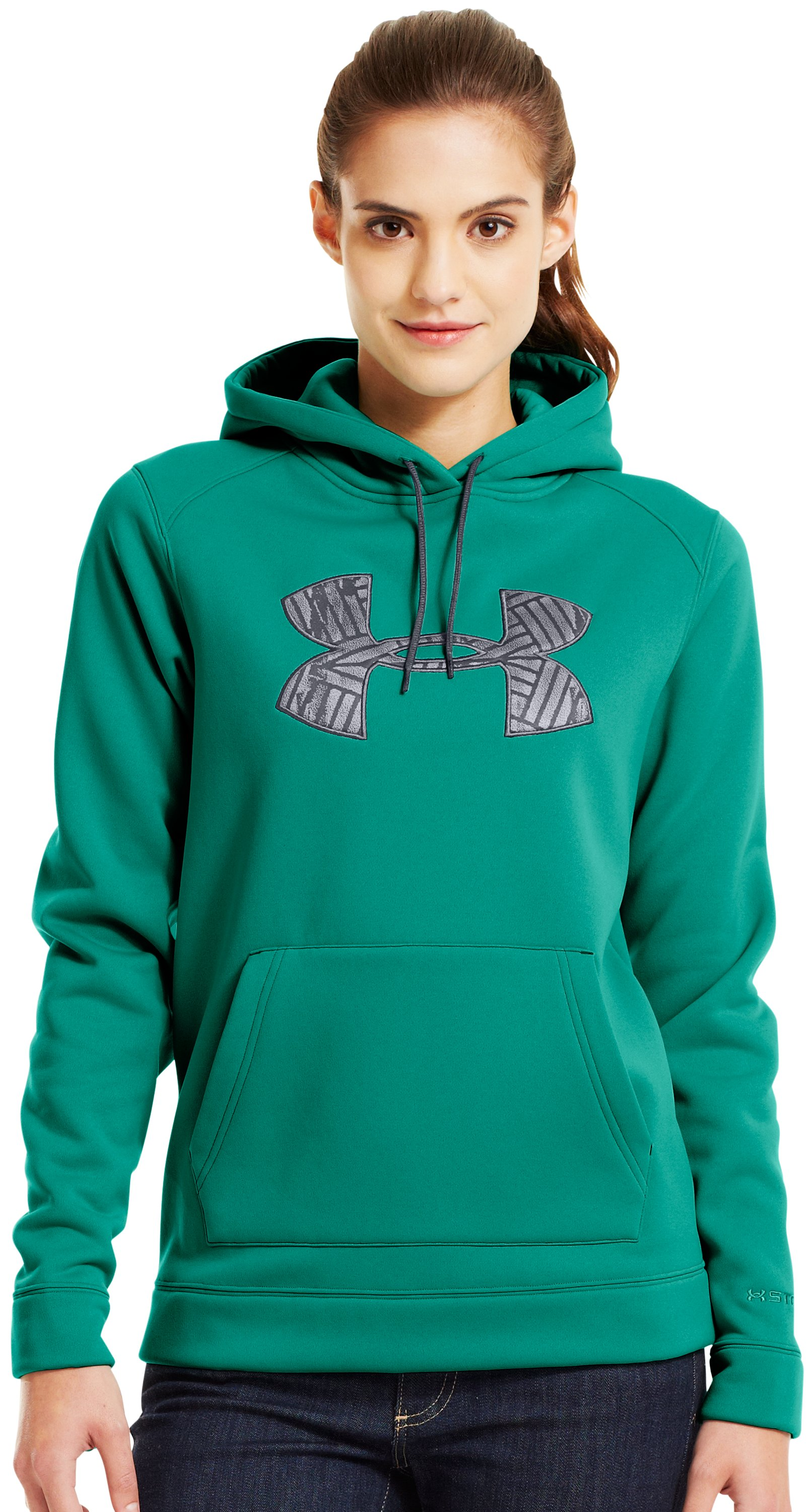 Women's UA Storm Tackle Twill Hoodie, NIGHTSHADE, Front