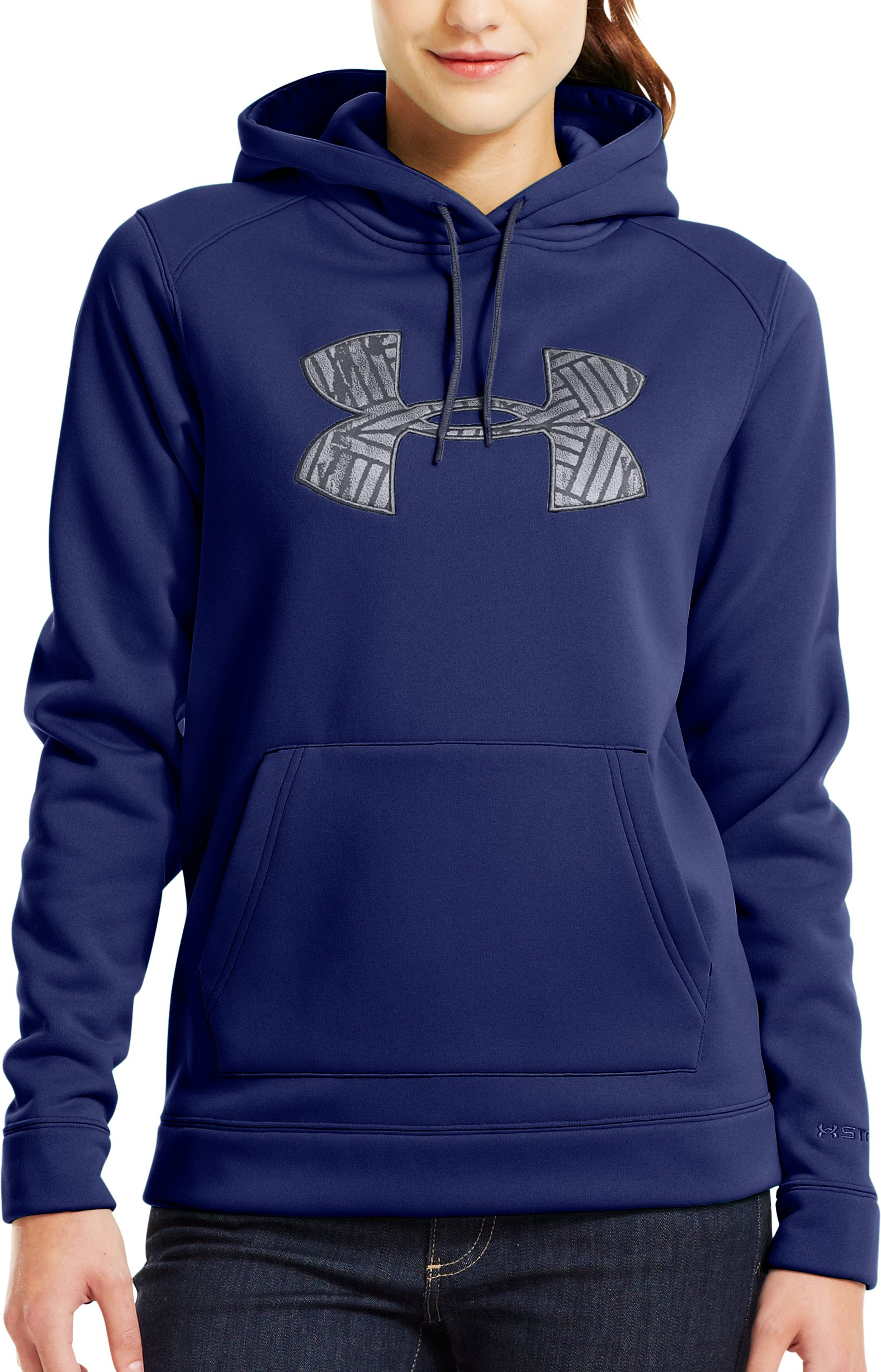 Women's UA Storm Tackle Twill Hoodie, REGAL, Front