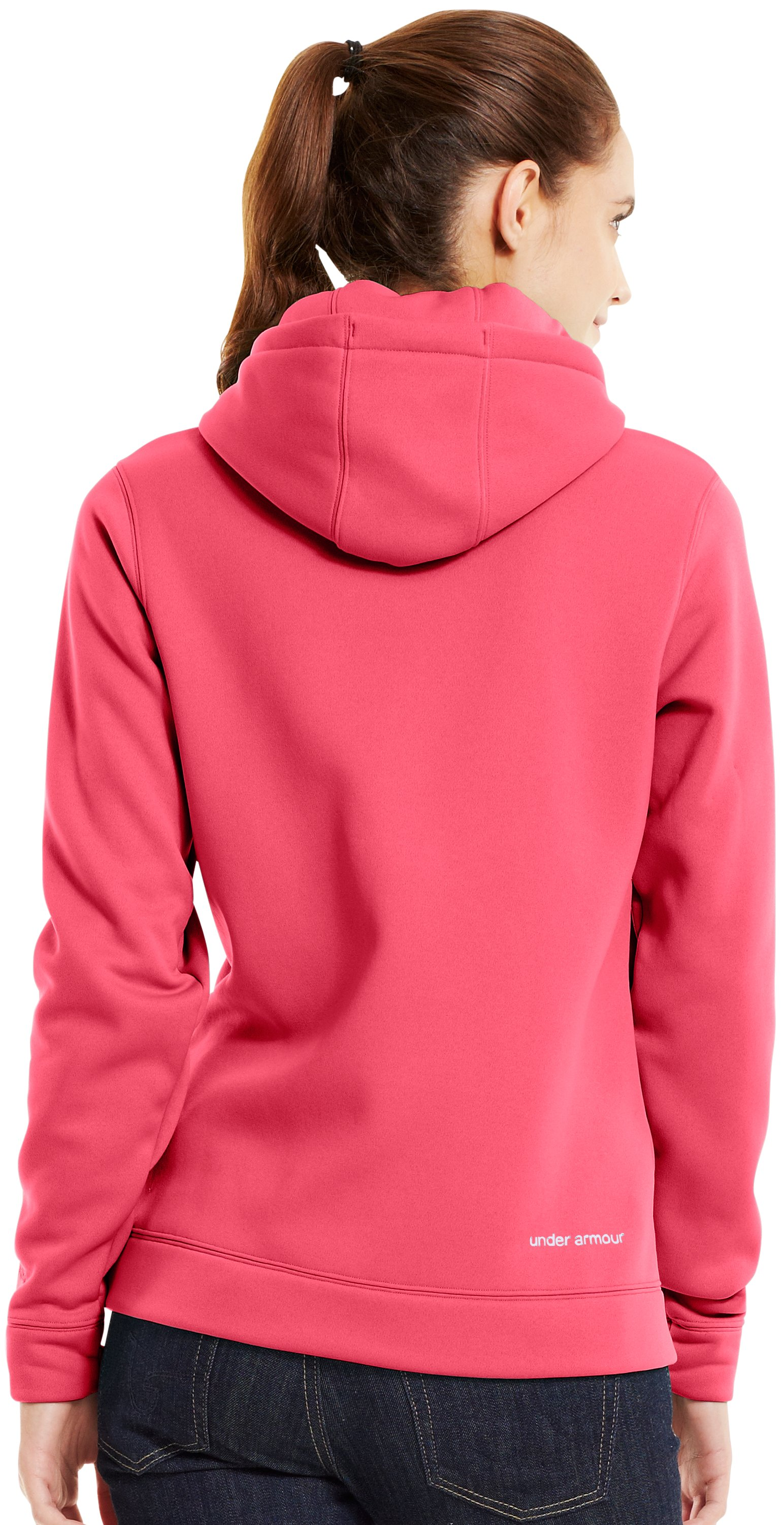 Women's UA Storm Tackle Twill Hoodie, Perfection, Back