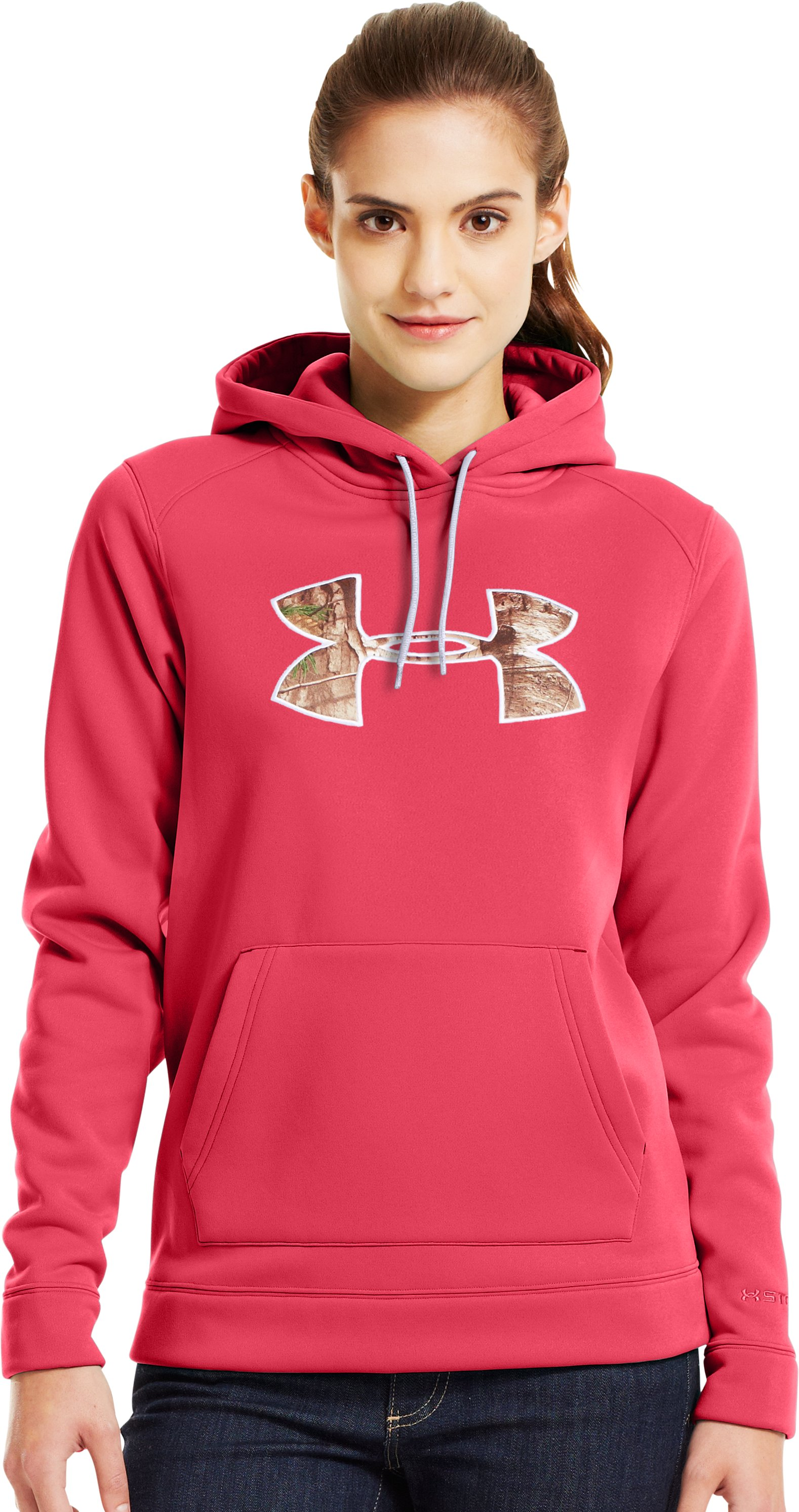Women's  UA Storm Tackle Twill Hoodie, Perfection, Front