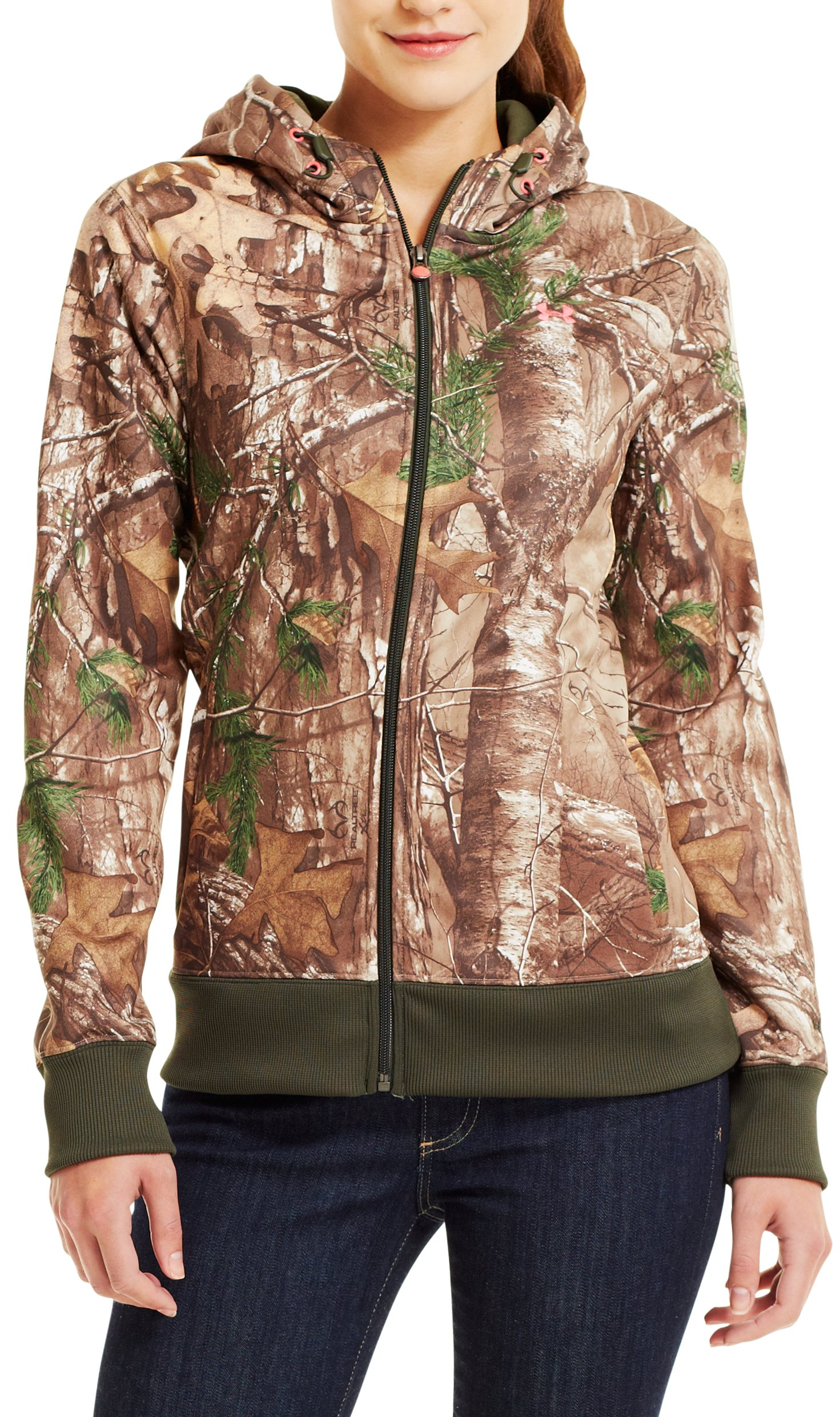 Women's Camouflage Full Zip Hoodie, REALTREE AP-XTRA, Front