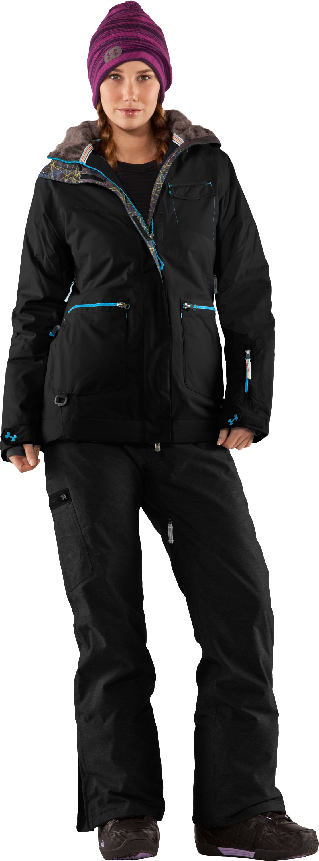 Women's Blar Waterproof Ski Jacket, Black , Front