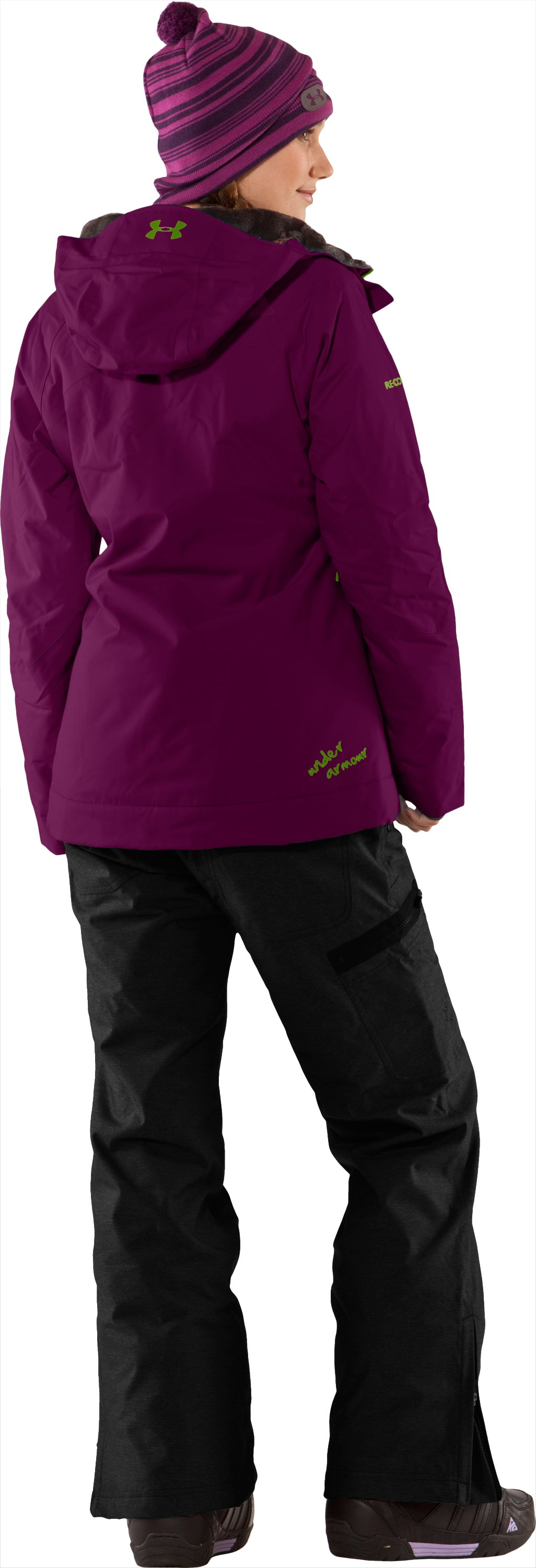 Women's Blar Waterproof Ski Jacket, Aubergine, Back