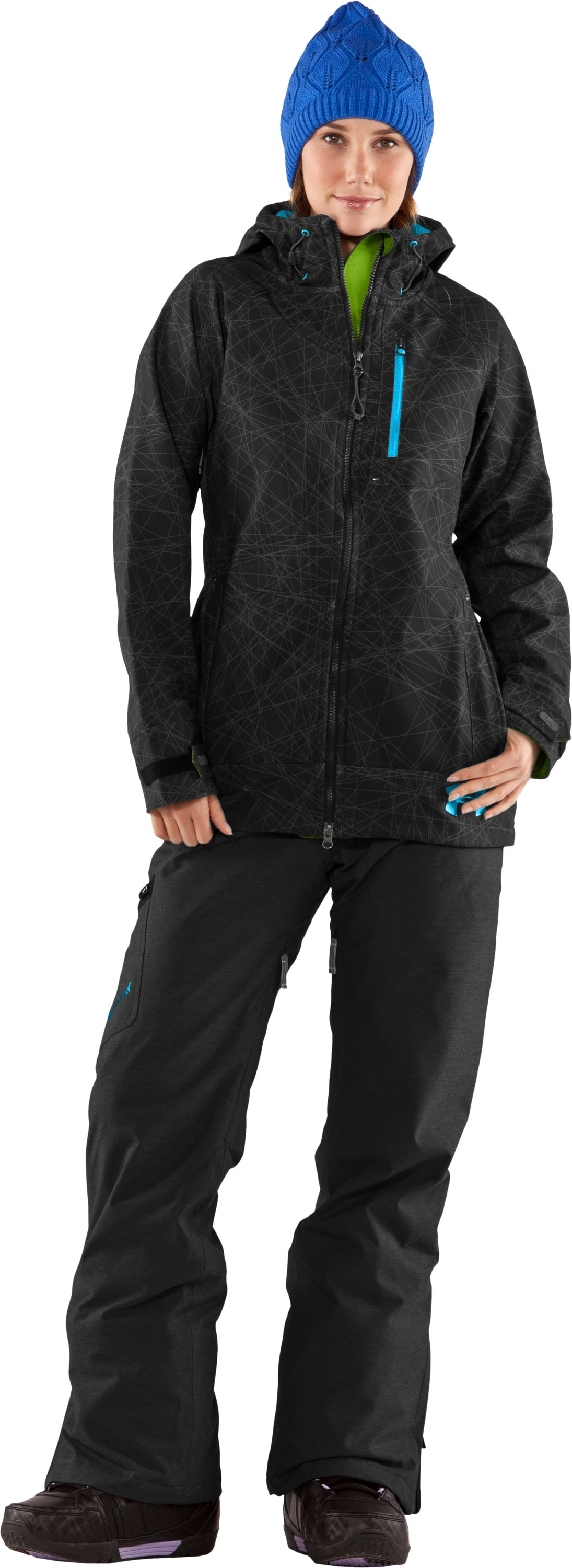 Women's Viscosity Softshell II Jacket, Black , Front