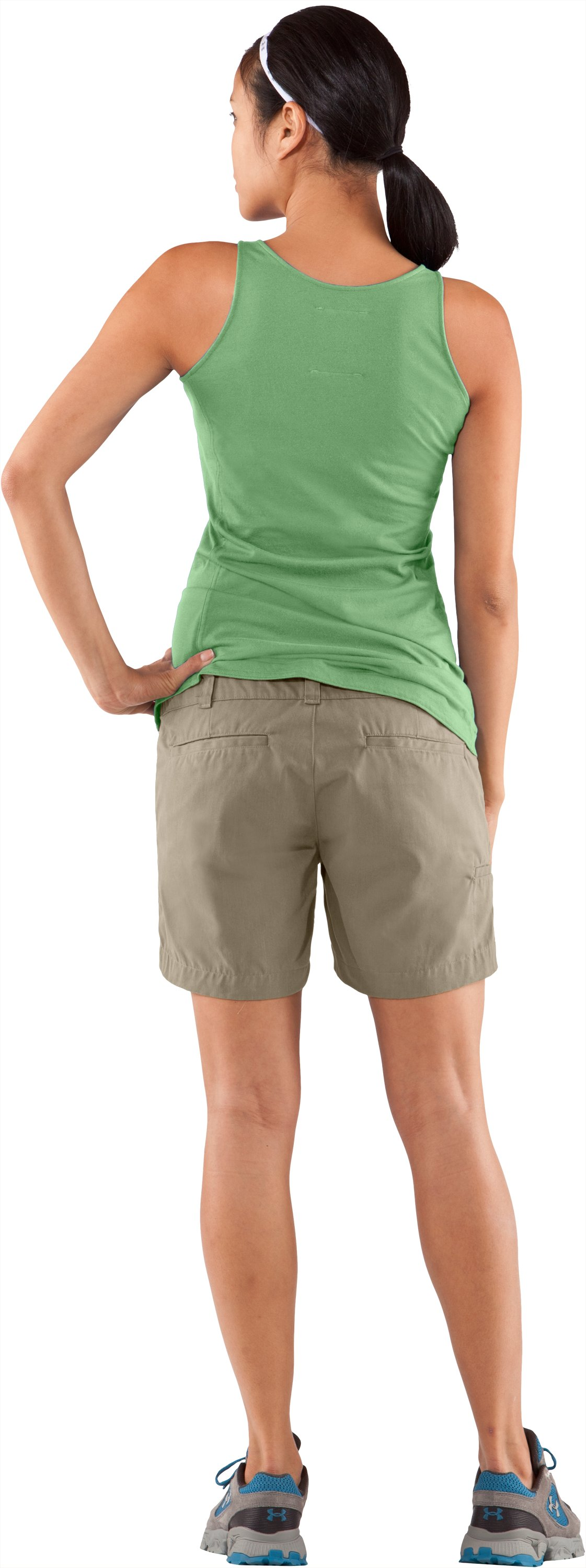 "Women's Calvert 5"" Hiking Short, Dune, Back"