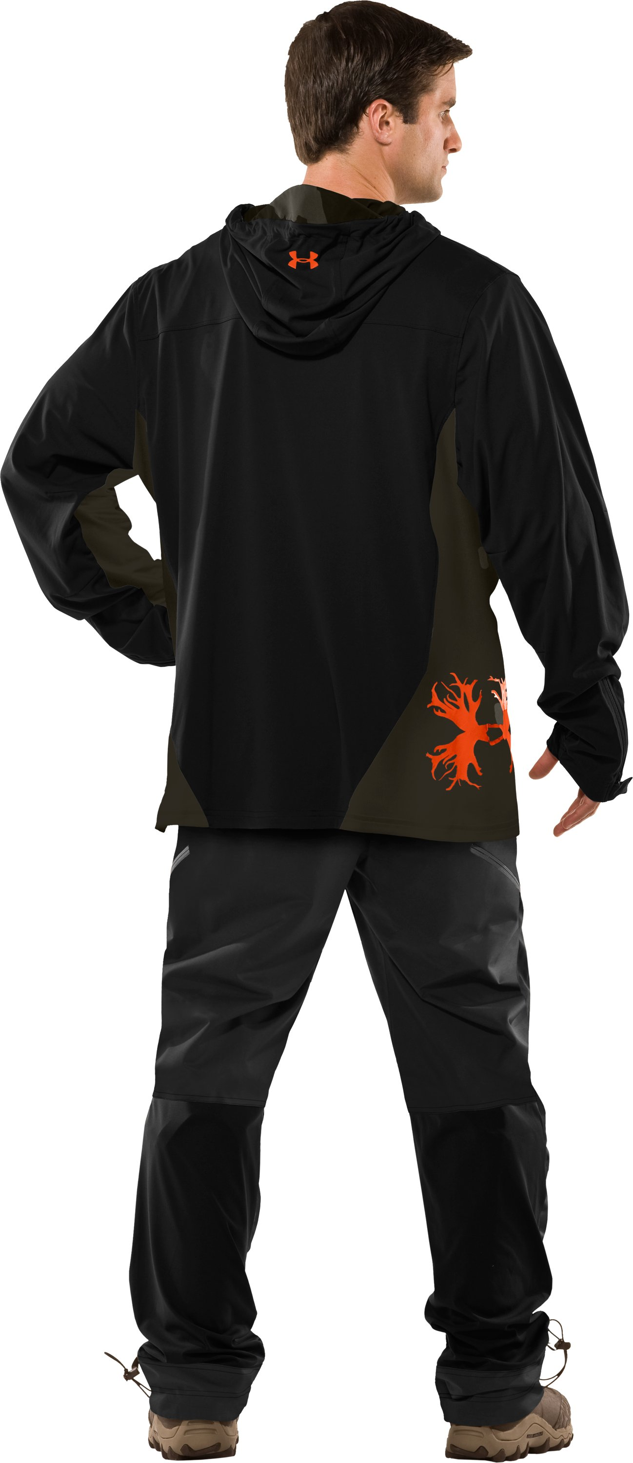 Men's UA Scent Control Early Season Hunting Hoodie, Black , Back