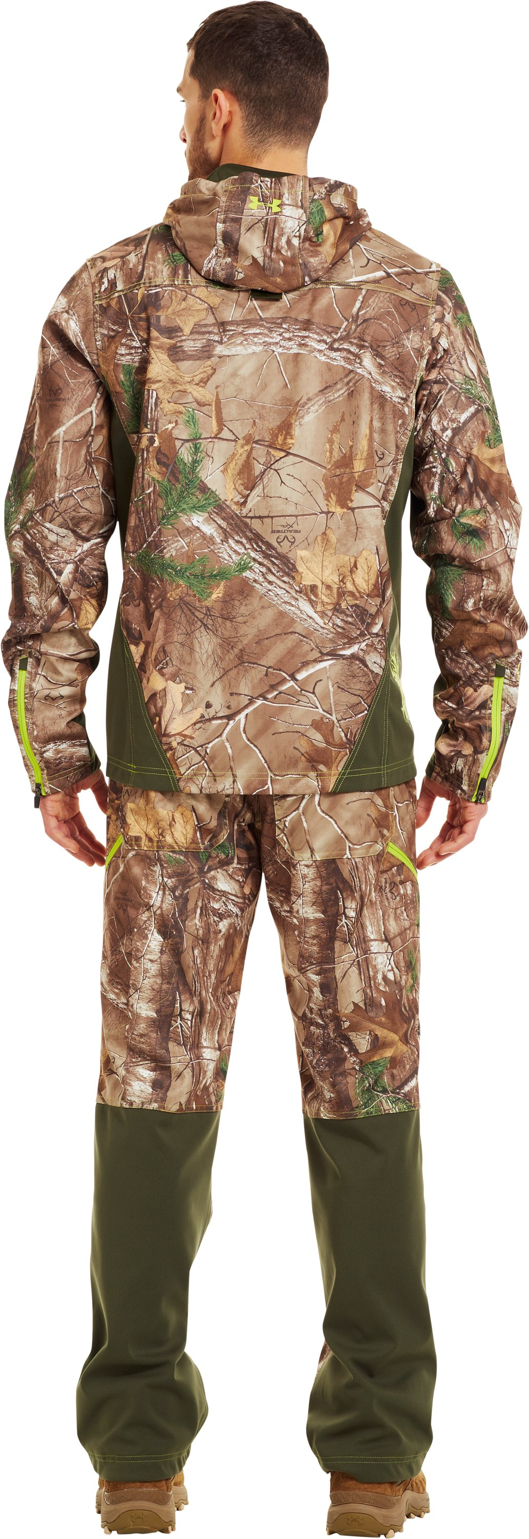 Men's UA Scent Control Early Season Hunting Hoodie, REALTREE AP-XTRA, Back