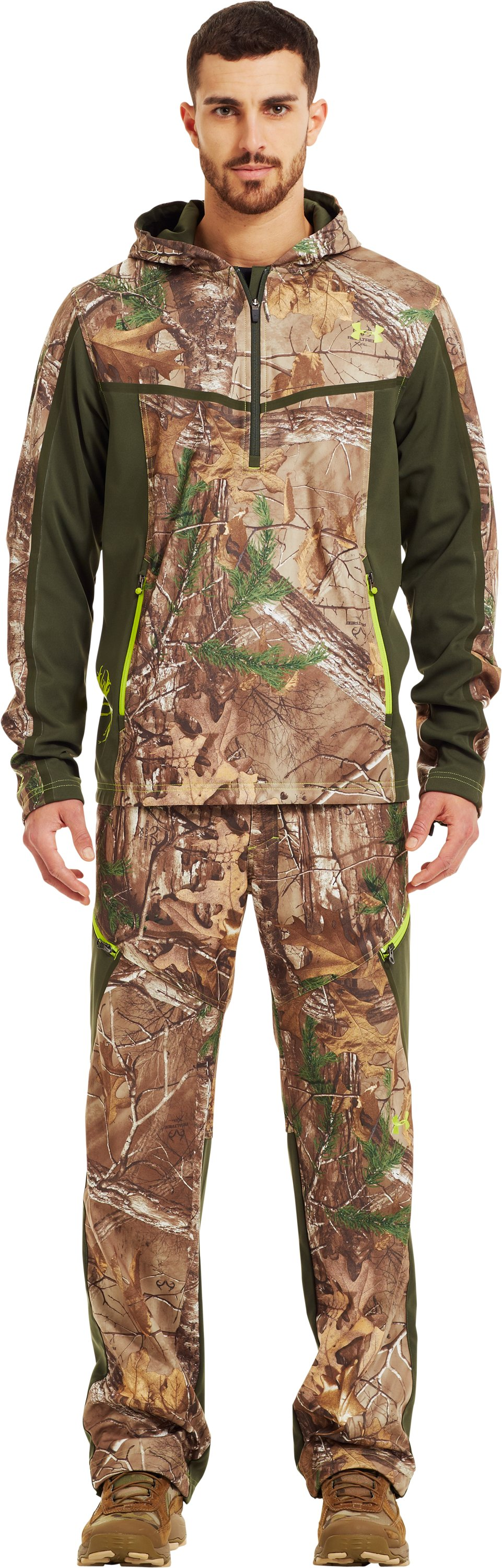 Men's UA Scent Control Early Season Hunting Hoodie, REALTREE AP-XTRA, Front