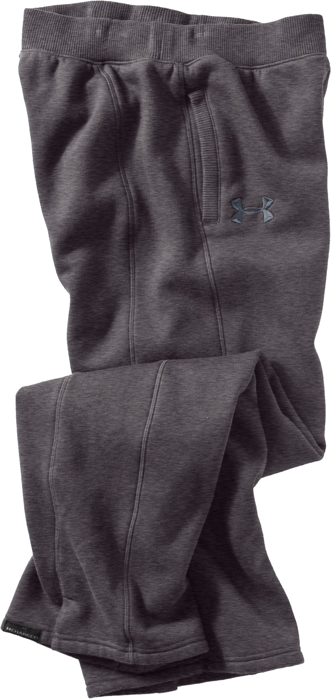 Women's UA Charged Cotton® Storm Fleece Pants, Carbon Heather, Laydown