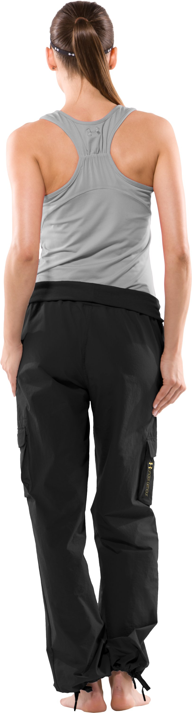 Women's UA Must Have Woven Pants, Black , Back