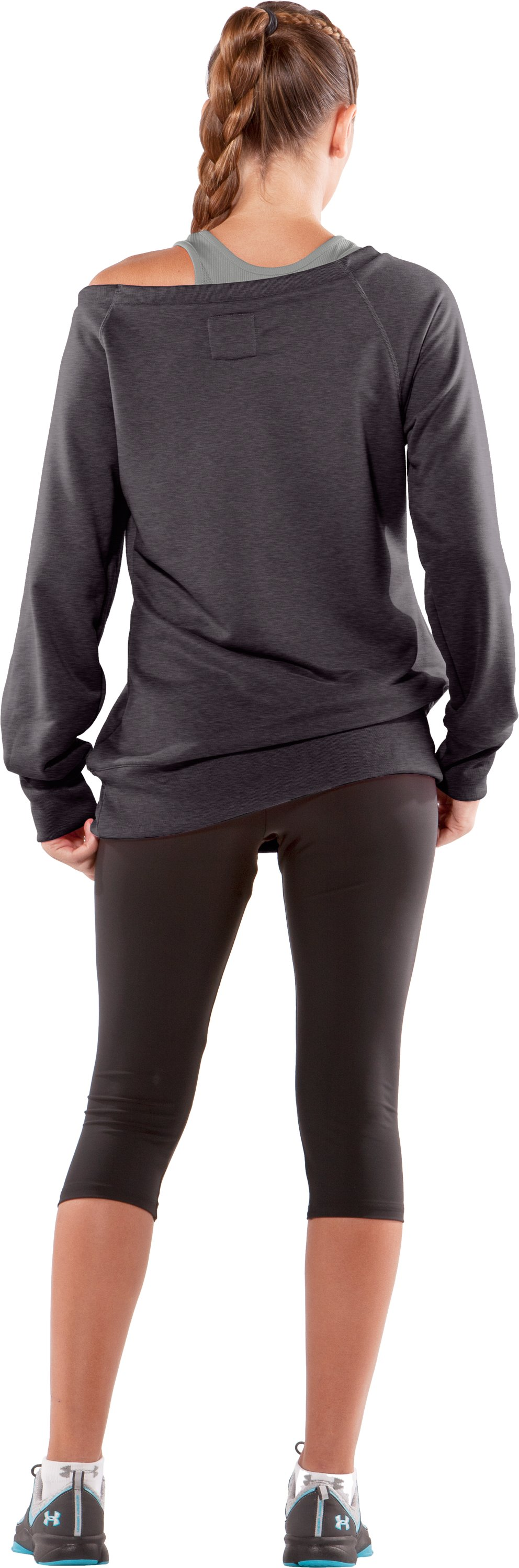 Women's Varsity Sweatshirt, Carbon Heather, Back
