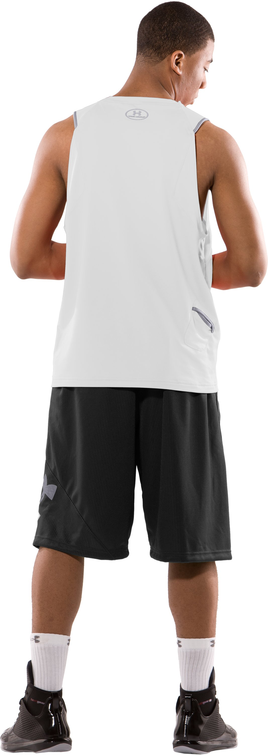 "Men's 12"" Lightspeed Basketball Shorts, Black , Back"