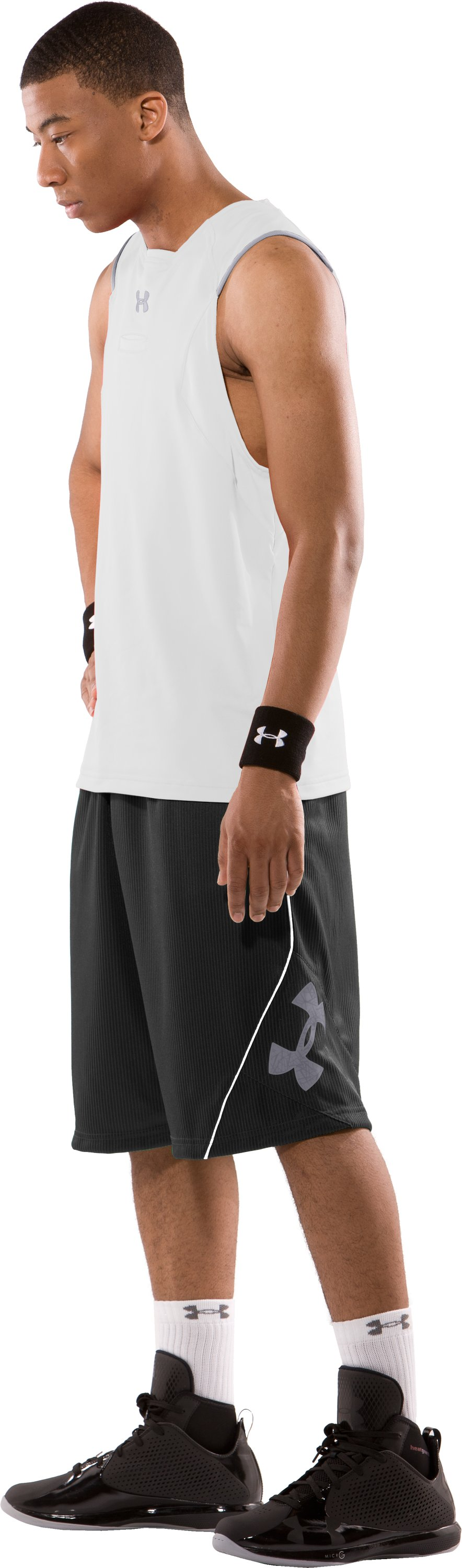 "Men's 12"" Lightspeed Basketball Shorts, Black , Front"