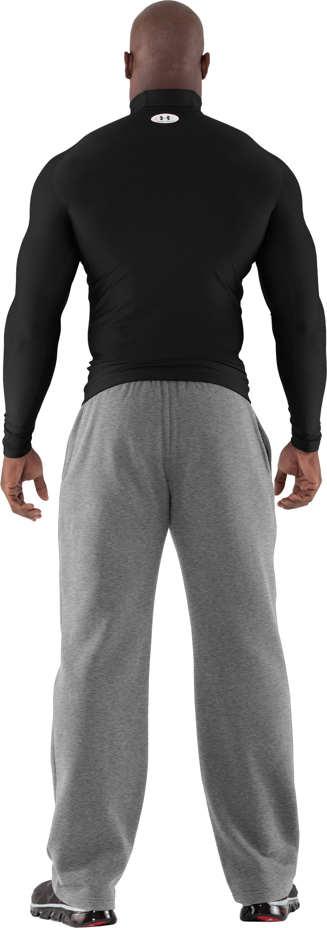 Men's ColdGear® Evo Long Sleeve Compression Mock, Black , Back