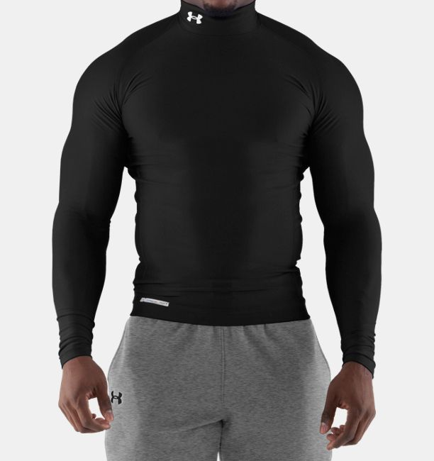 Men s coldgear evo long sleeve compression mock under for Under armour cold gear shirt mens