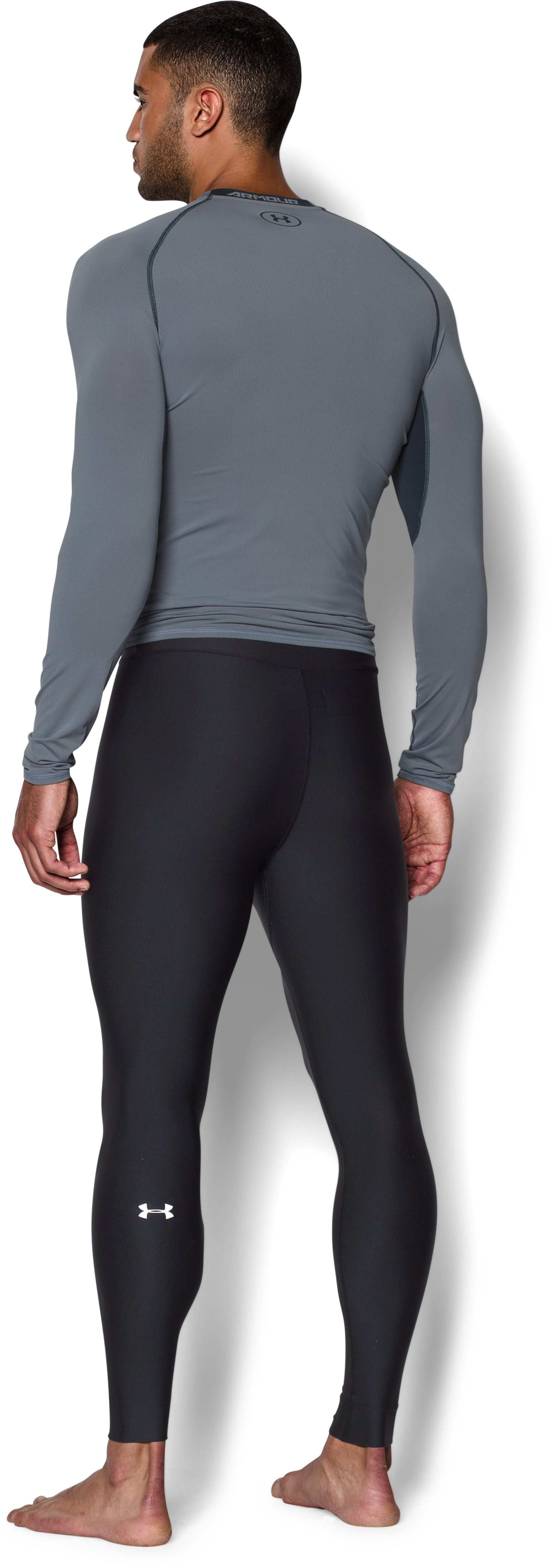 Men's UA EVO ColdGear® Compression Leggings, Black , Back