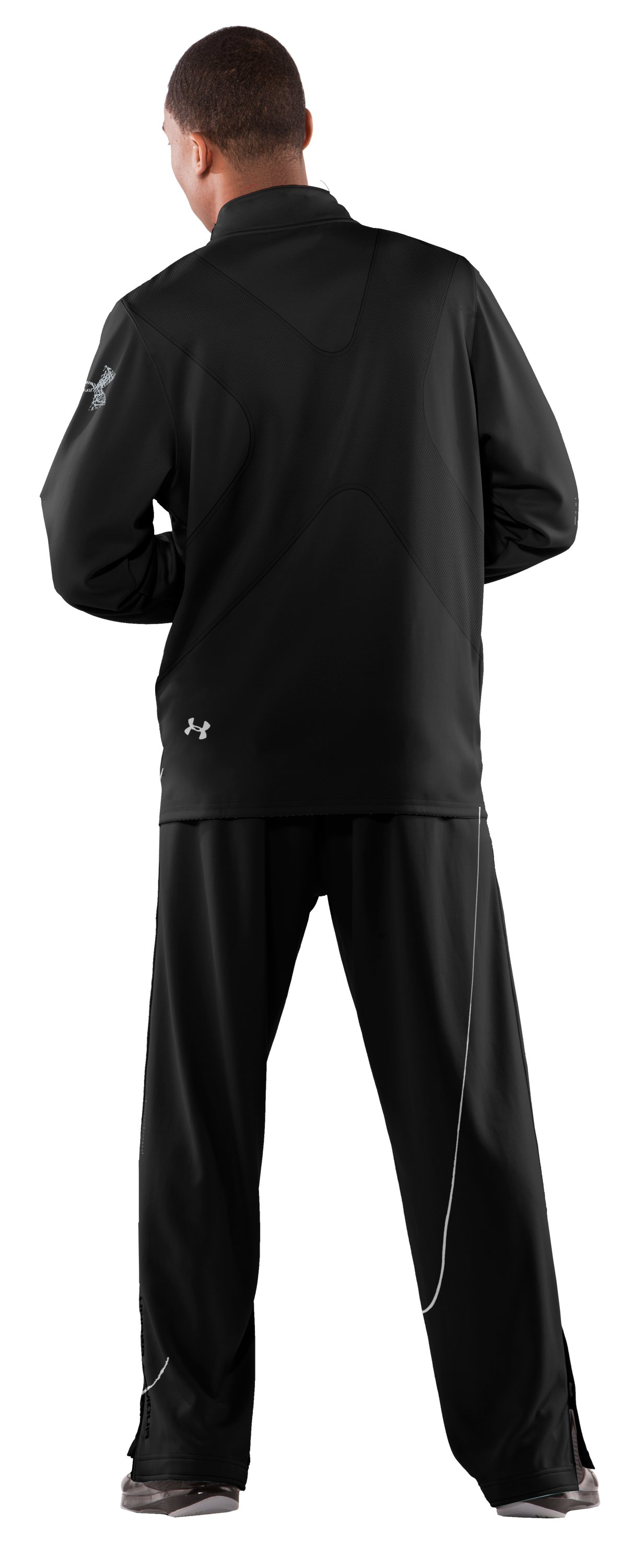 Men's UA Bloodline Warm-Up Jacket, Black , Back