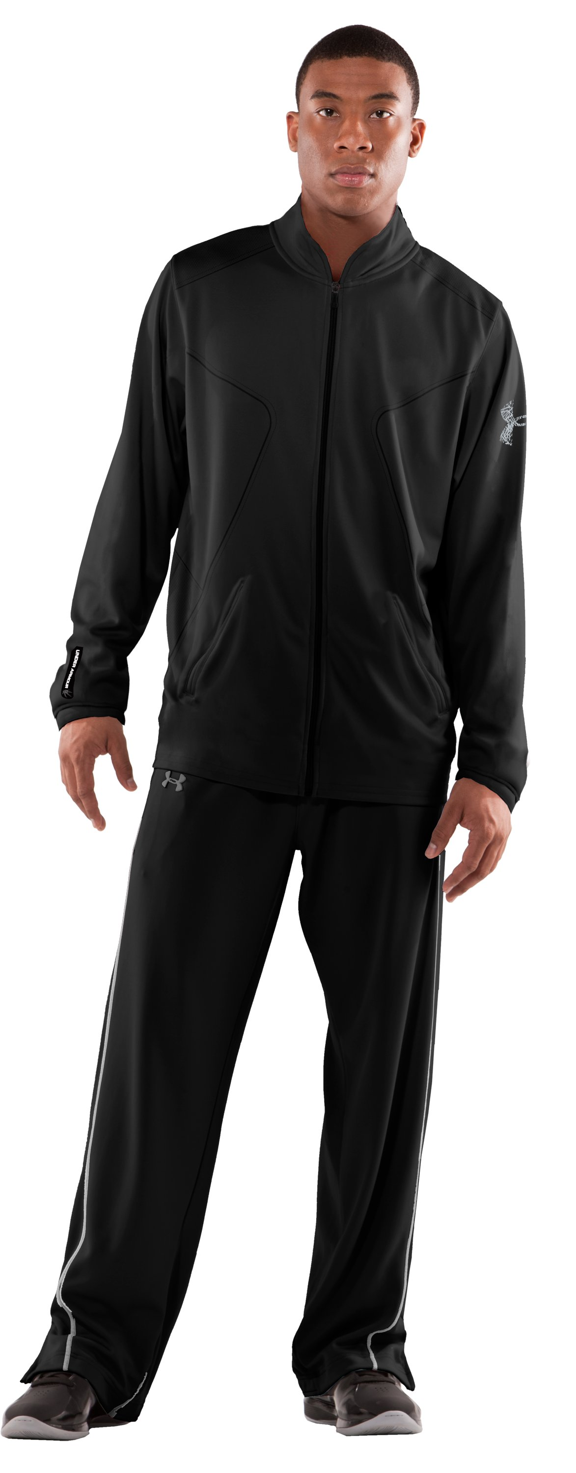 Men's UA Bloodline Warm-Up Jacket, Black , Front