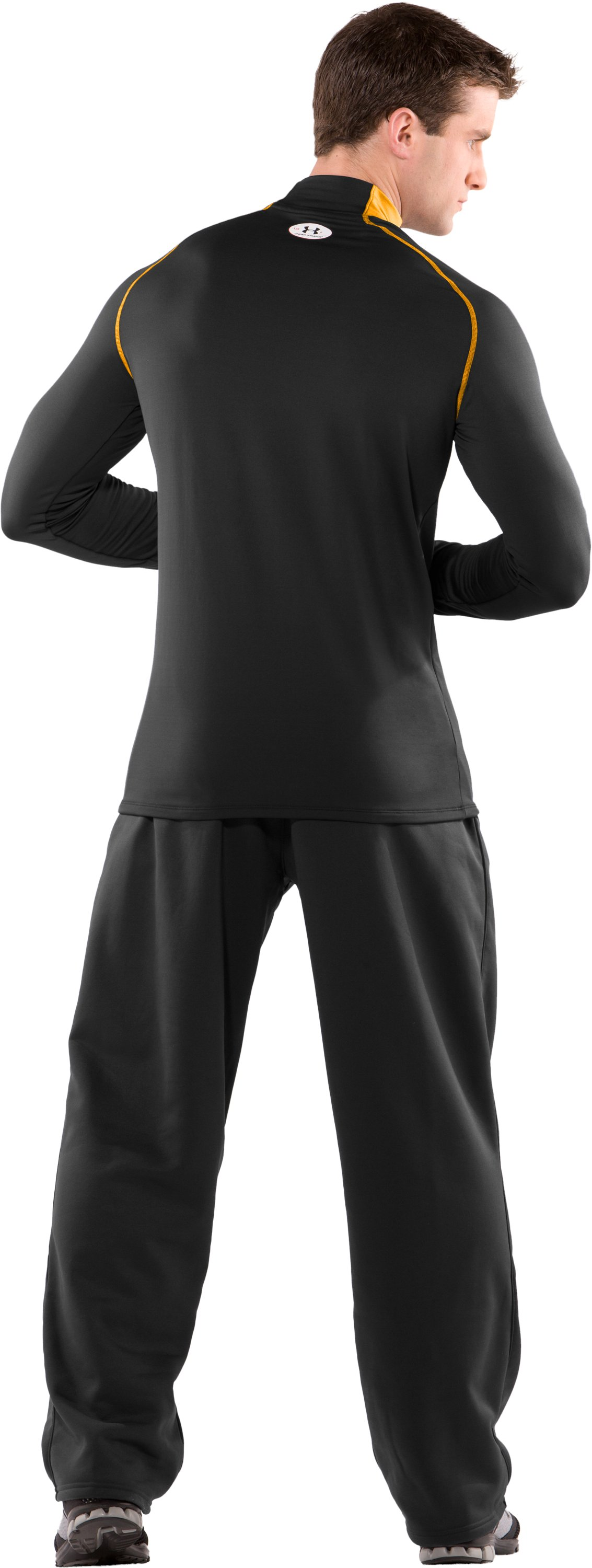 Men's ColdGear® Fitted Long Sleeve Team Mock II, Black , Back