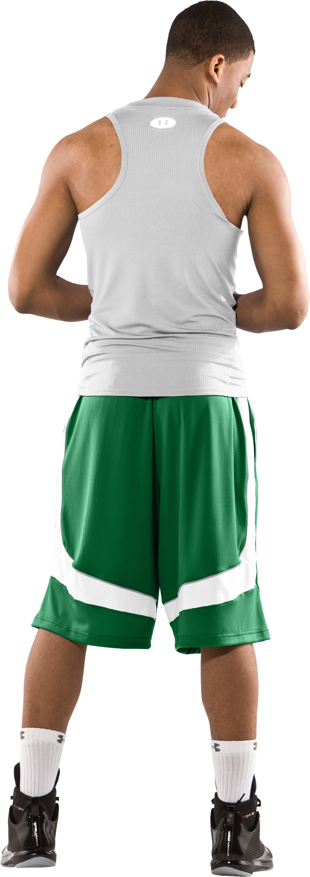 "Men's 12"" Flow Basketball Shorts, Classic Green, Back"