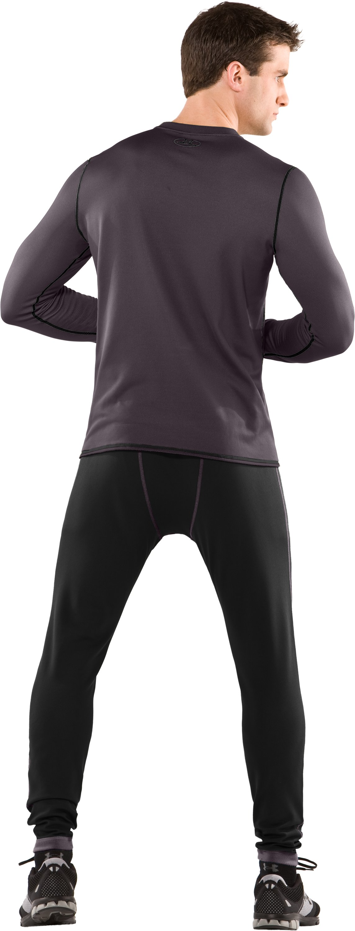 Men's ColdGear® Reversible Fitted Long Sleeve Crew, Black