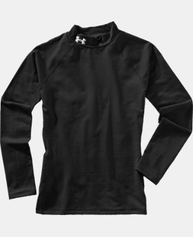 Girls' ColdGear® Fitted Long Sleeve Mock