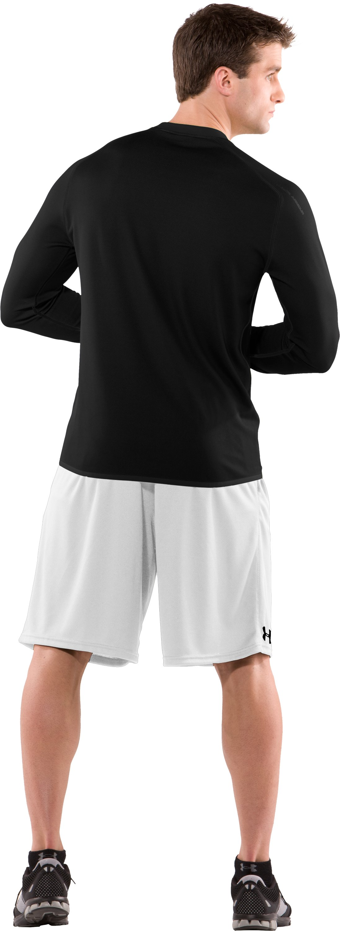 Men's AllSeasonGear® Reversible Long Sleeve Fitted Crew II, Black , Back