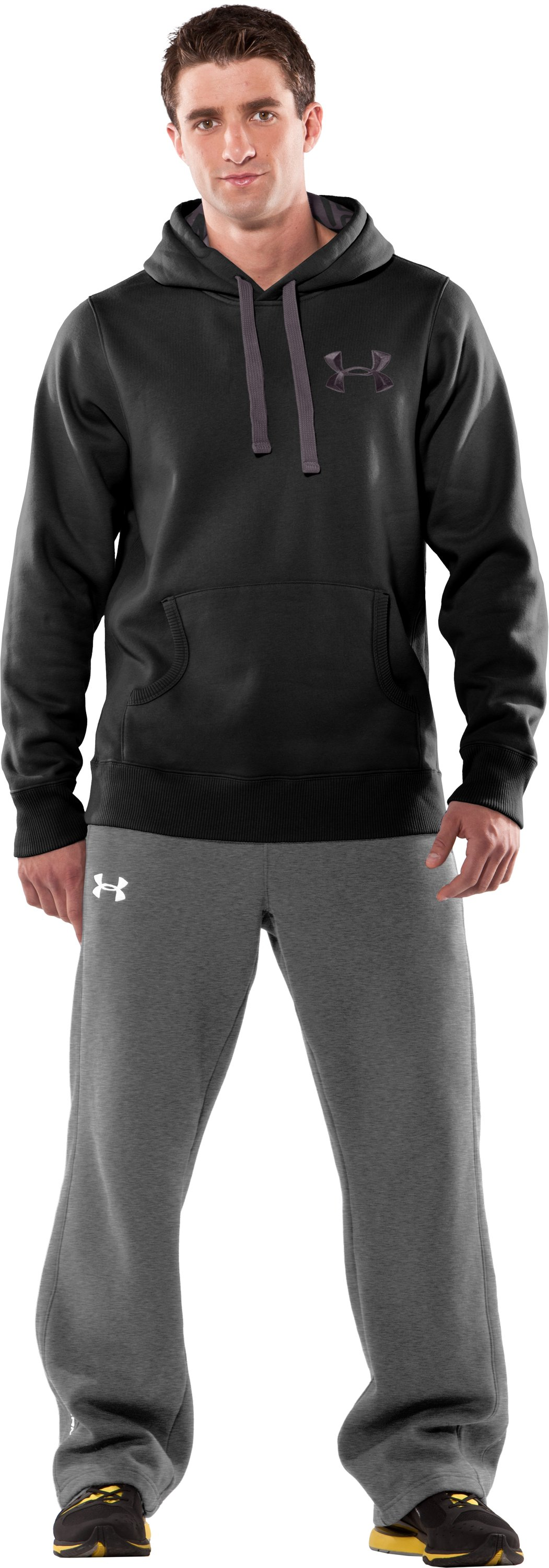 Men's UA Charged Cotton® Storm Fleece Hoodie, Black , zoomed image