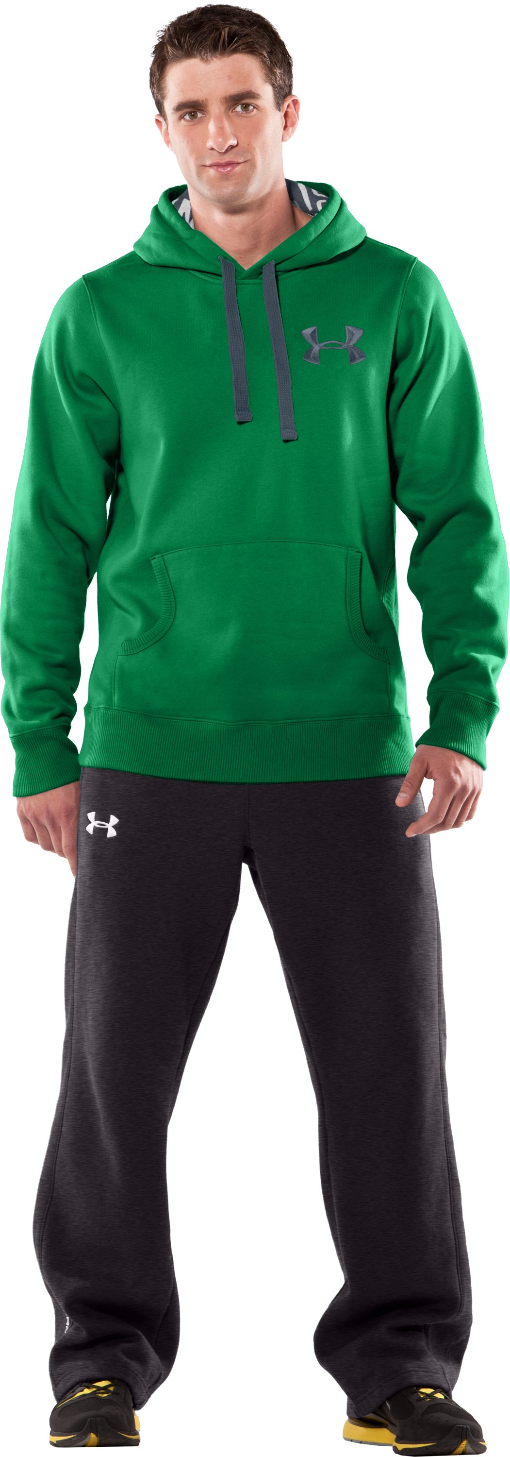 Men's UA Charged Cotton® Storm Fleece Hoodie, Shock