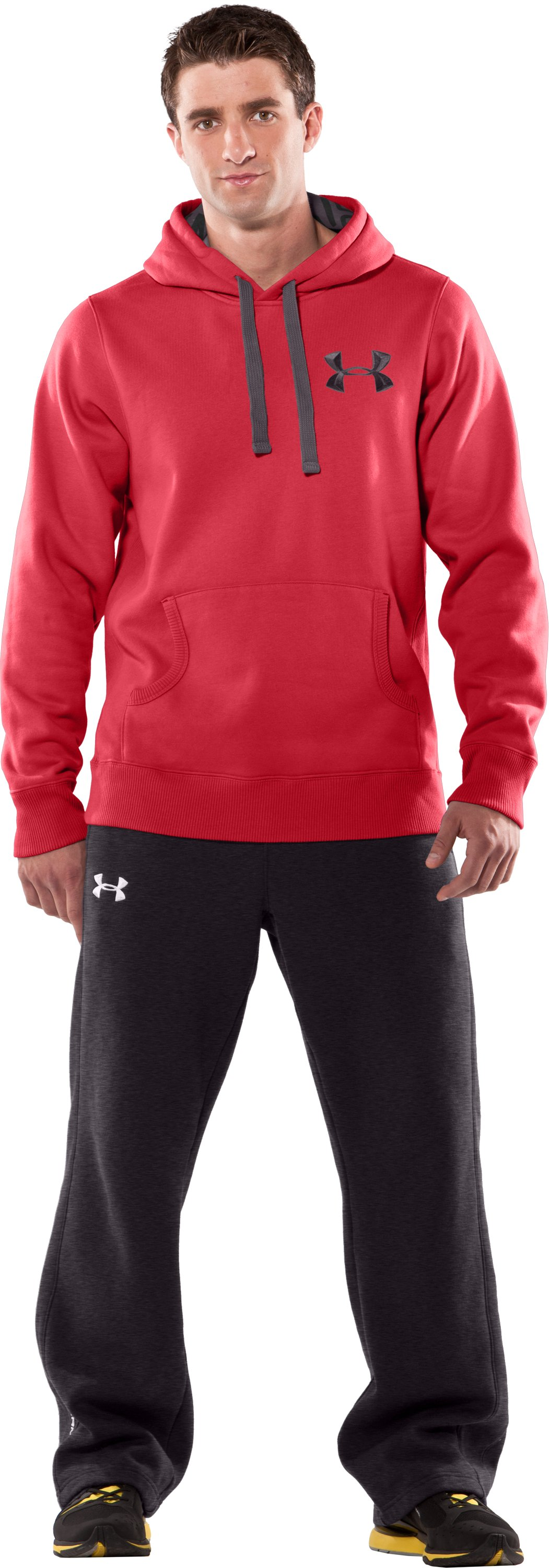 Men's UA Charged Cotton® Storm Fleece Hoodie, Red, Front