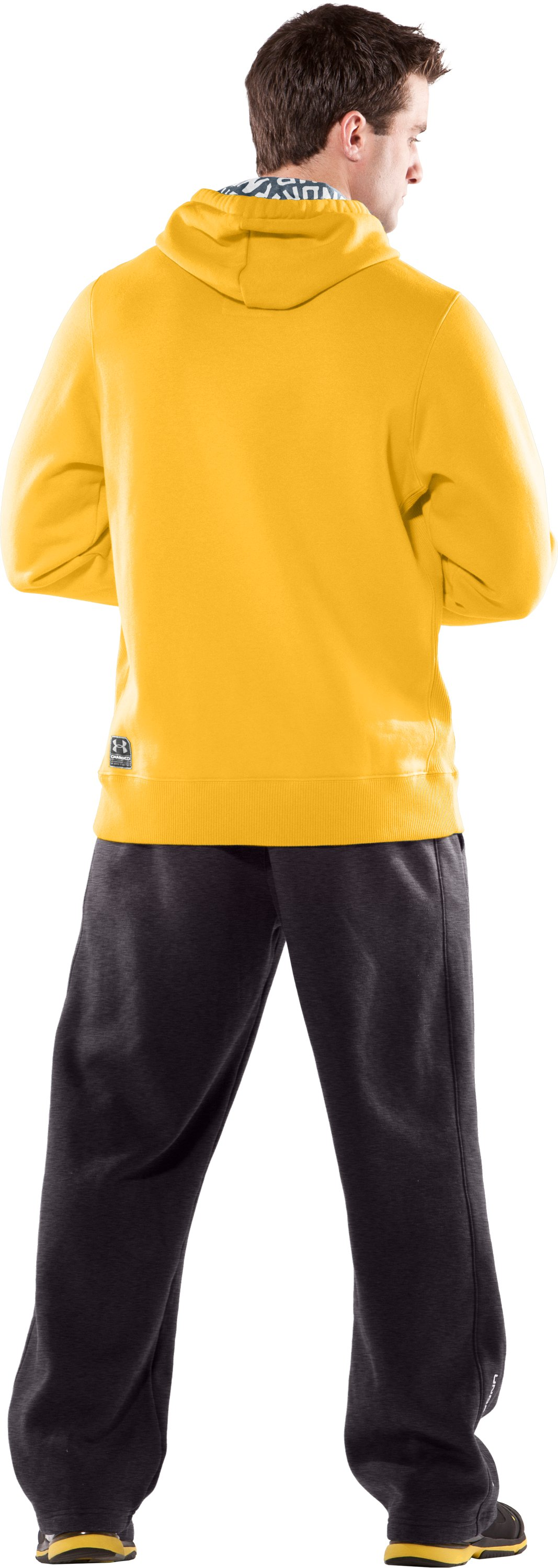 Men's UA Charged Cotton® Storm Fleece Hoodie, Maize, Back