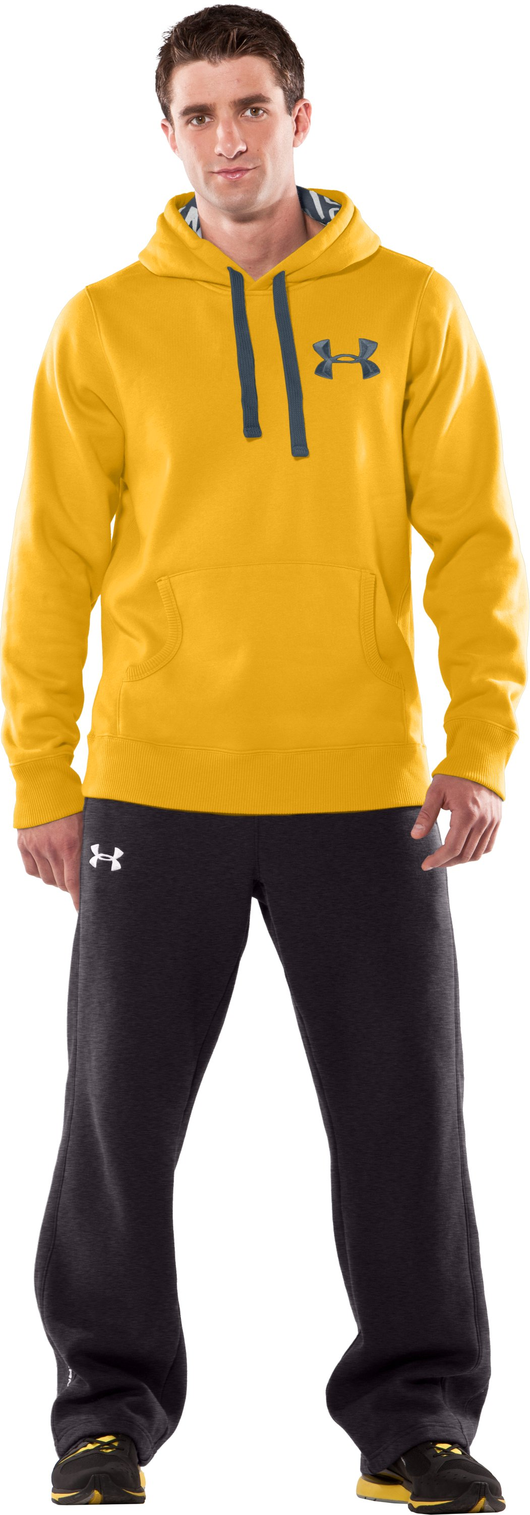 Men's UA Charged Cotton® Storm Fleece Hoodie, Maize, Front