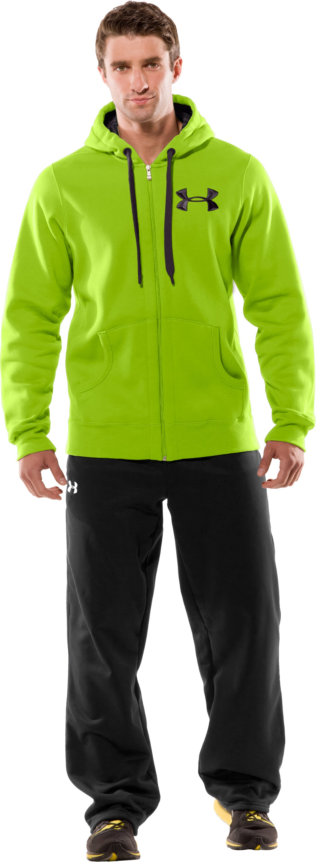 Men's UA Charged Cotton® Storm Full Zip Hoodie, Fusion, Front