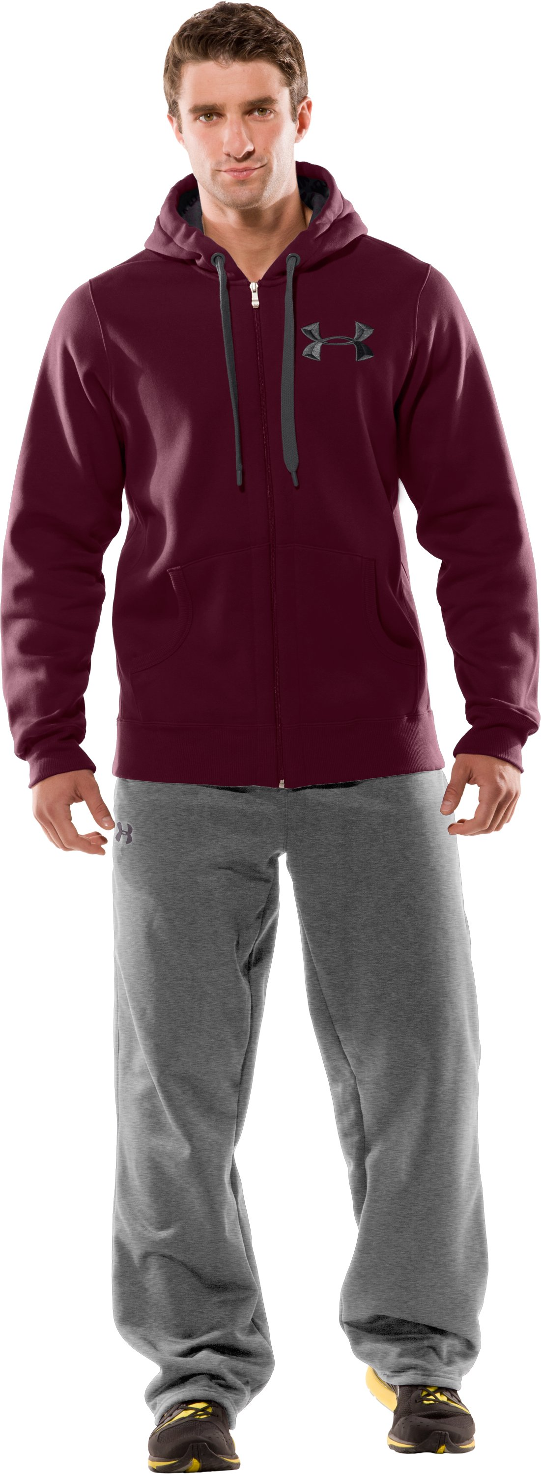 Men's UA Charged Cotton® Storm Full Zip Hoodie, Puncture, zoomed image