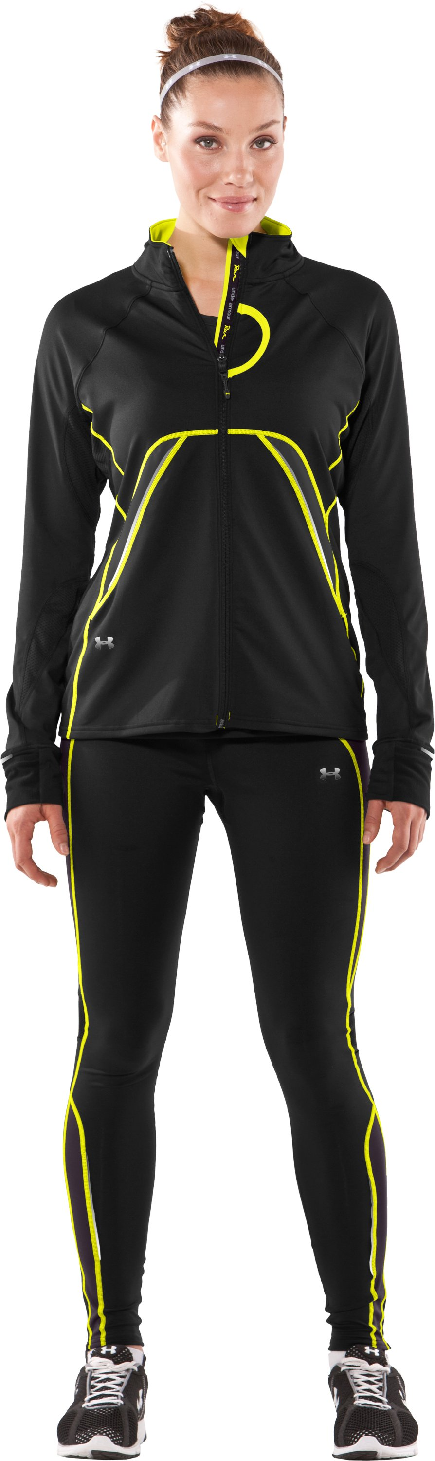 Women's Draft ColdGear® Full Zip Jacket, Black , Front
