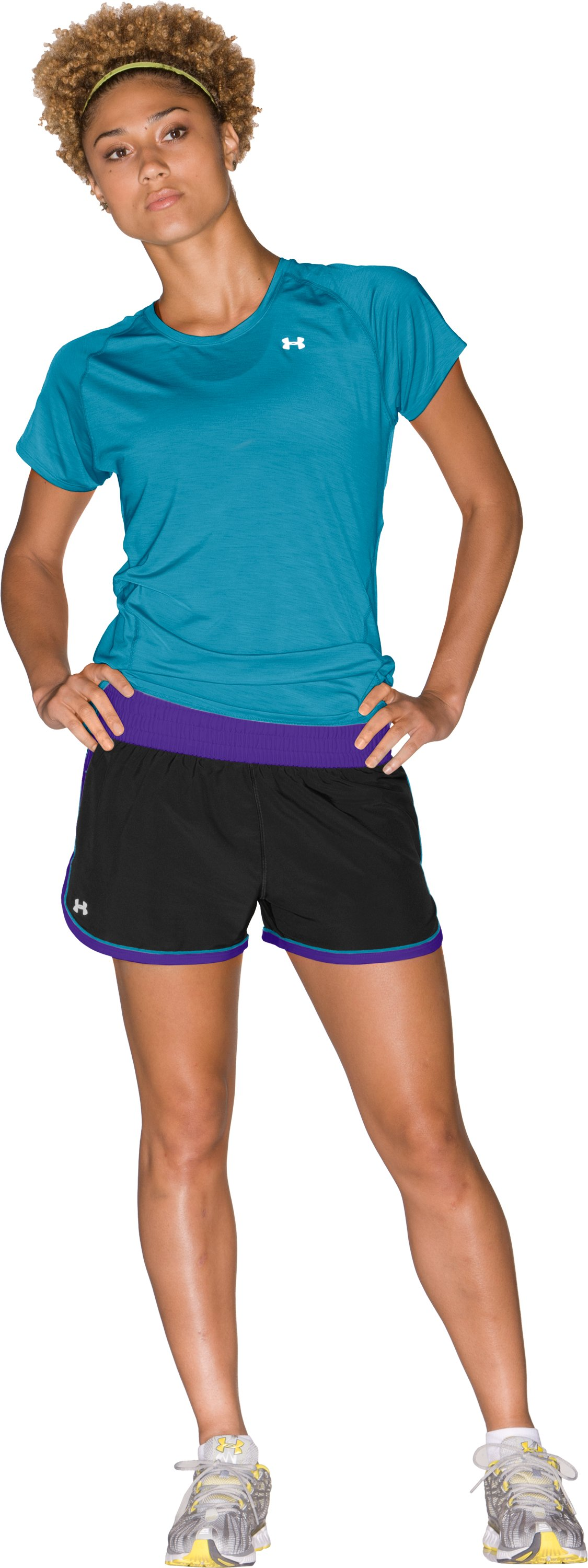 "Women's UA Great Escape 3"" Shorts, Black , Front"
