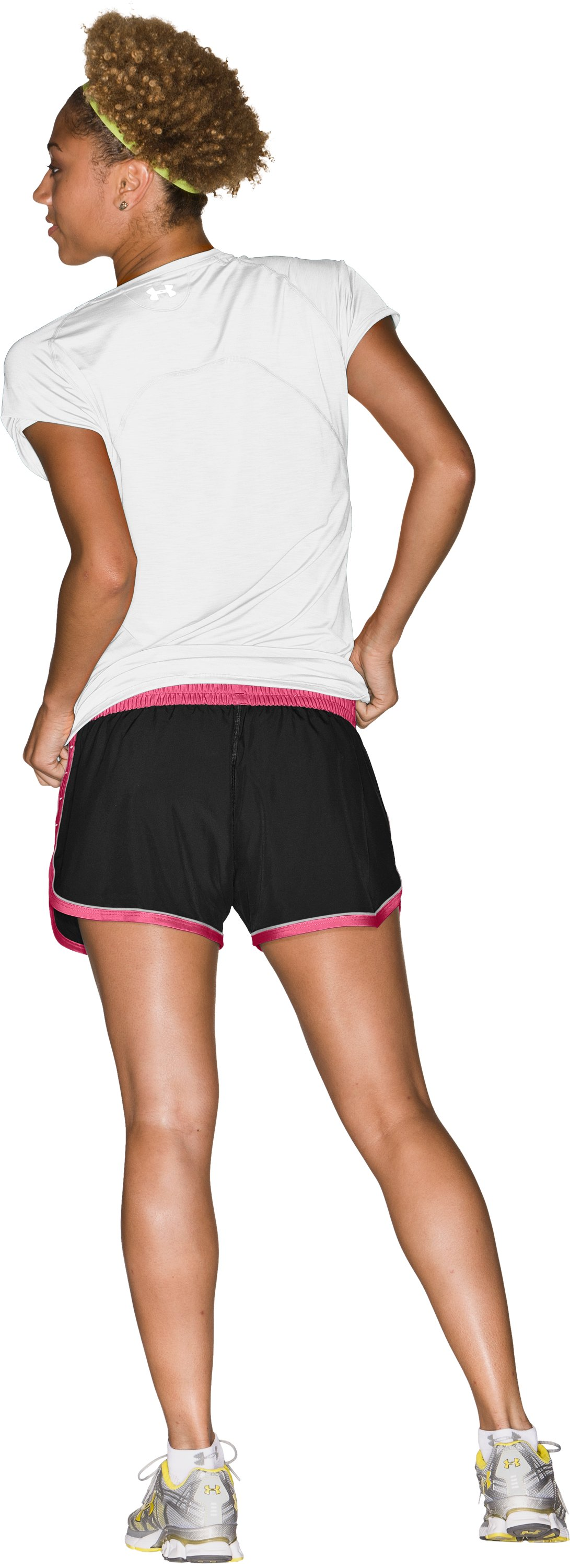 "Women's UA Great Escape 3"" Shorts, Black , Back"