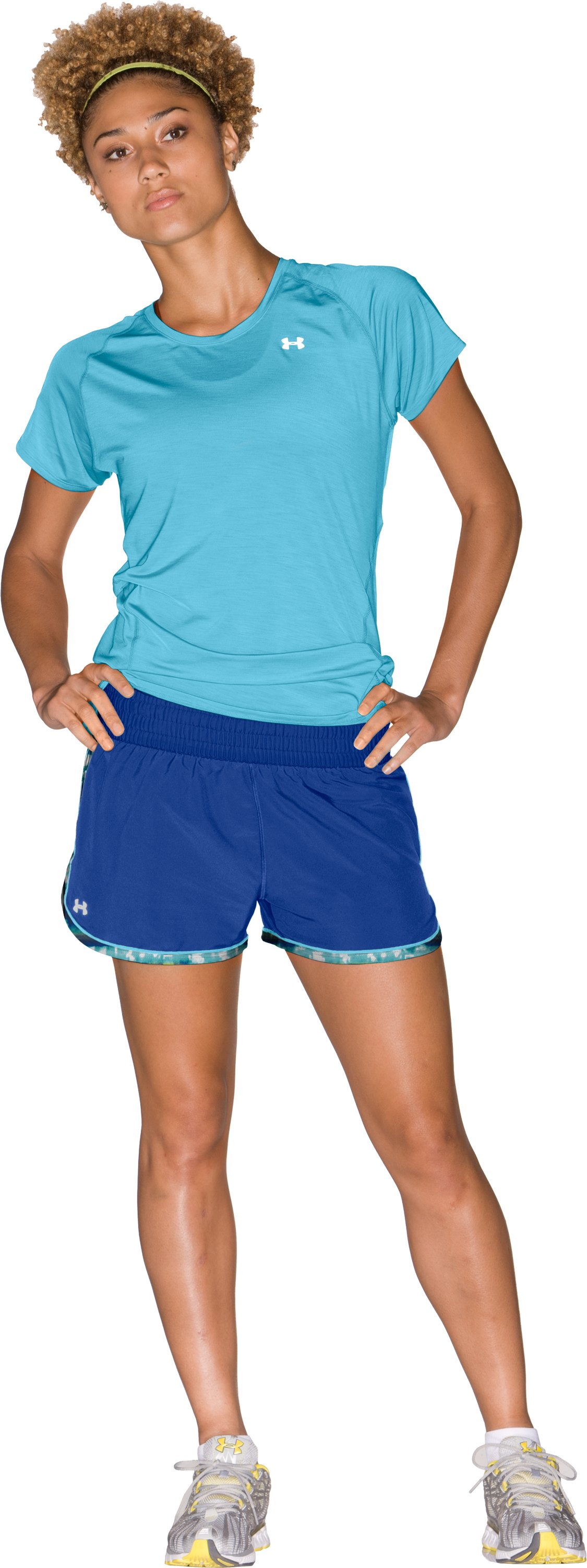 "Women's UA Great Escape 3"" Shorts, Wish, Front"