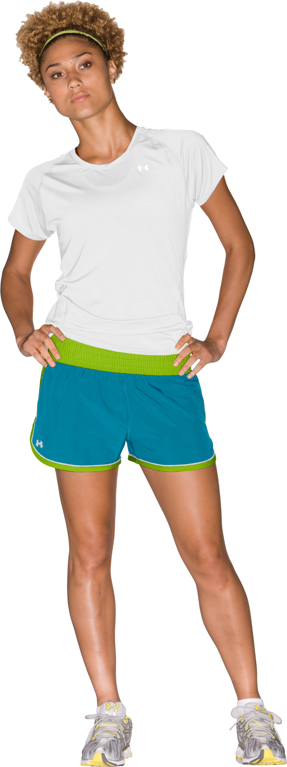 "Women's UA Great Escape 3"" Shorts, Break, Front"