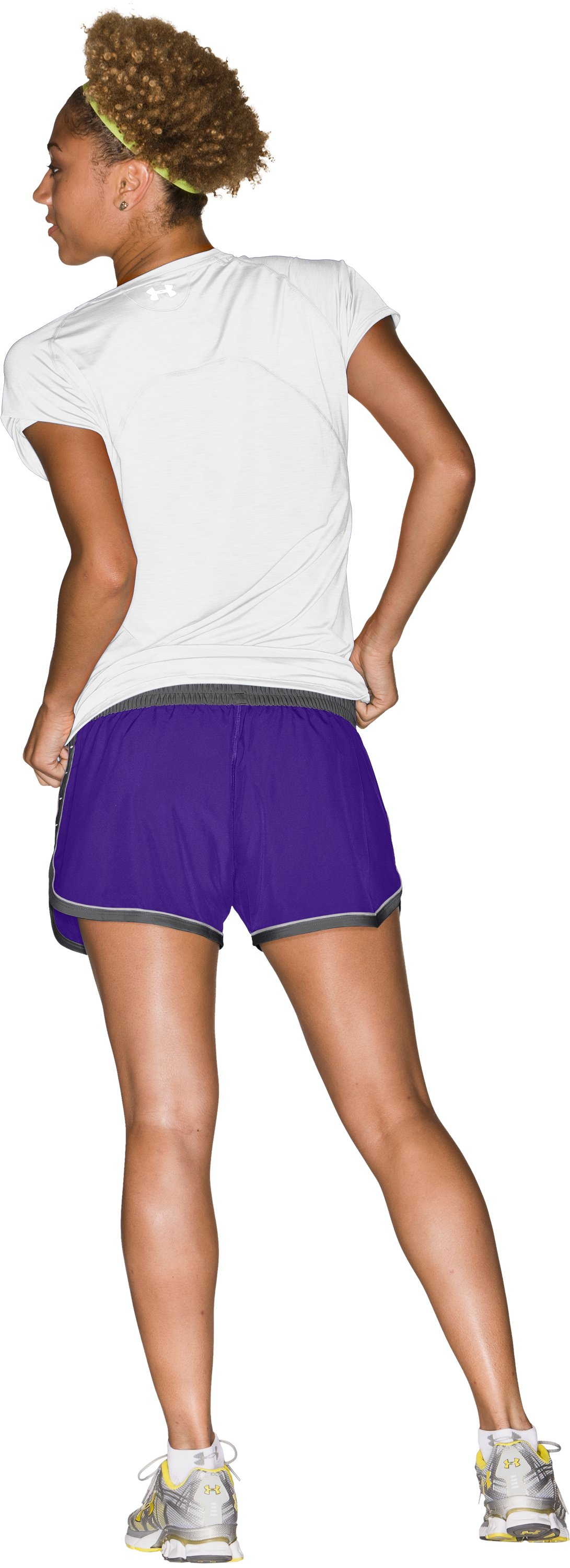 "Women's UA Great Escape 3"" Shorts, Pluto, Back"