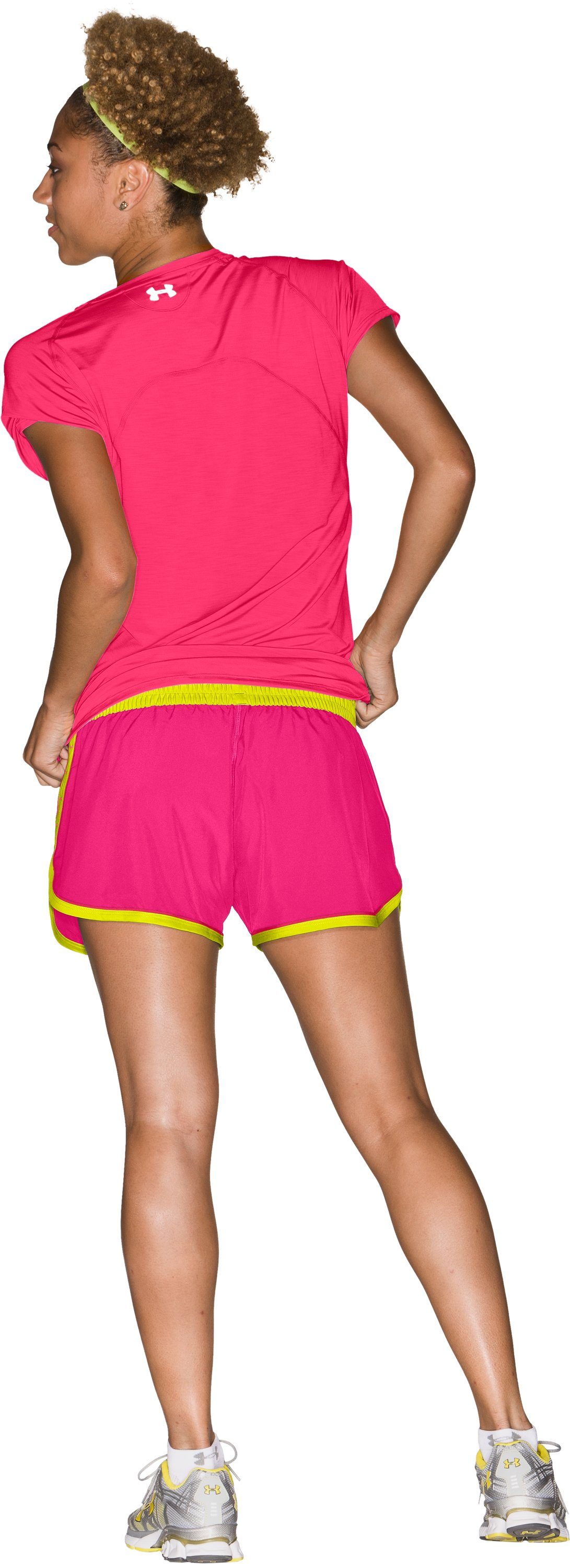 "Women's UA Great Escape 3"" Shorts, Cerise, Back"