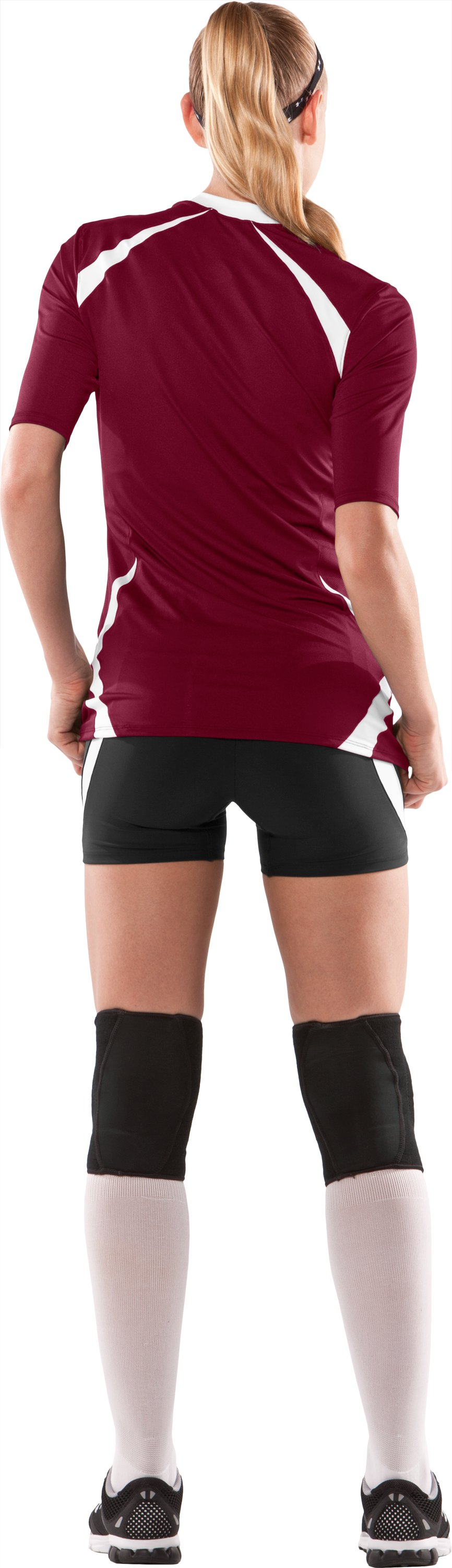 Women's UA Elevate ½ Sleeve Volleyball Jersey, Maroon, Back