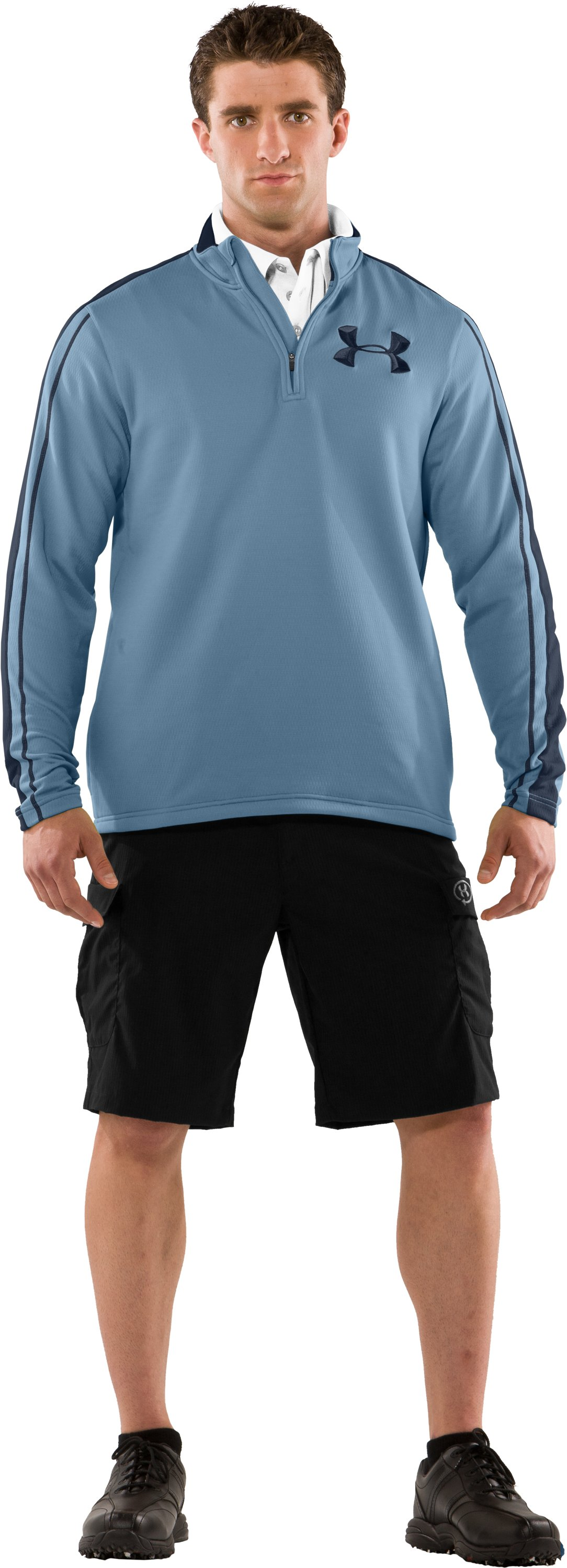 Men's UA Catalyst Focus 3.0 ¼ Zip Jacket, Solder, zoomed image