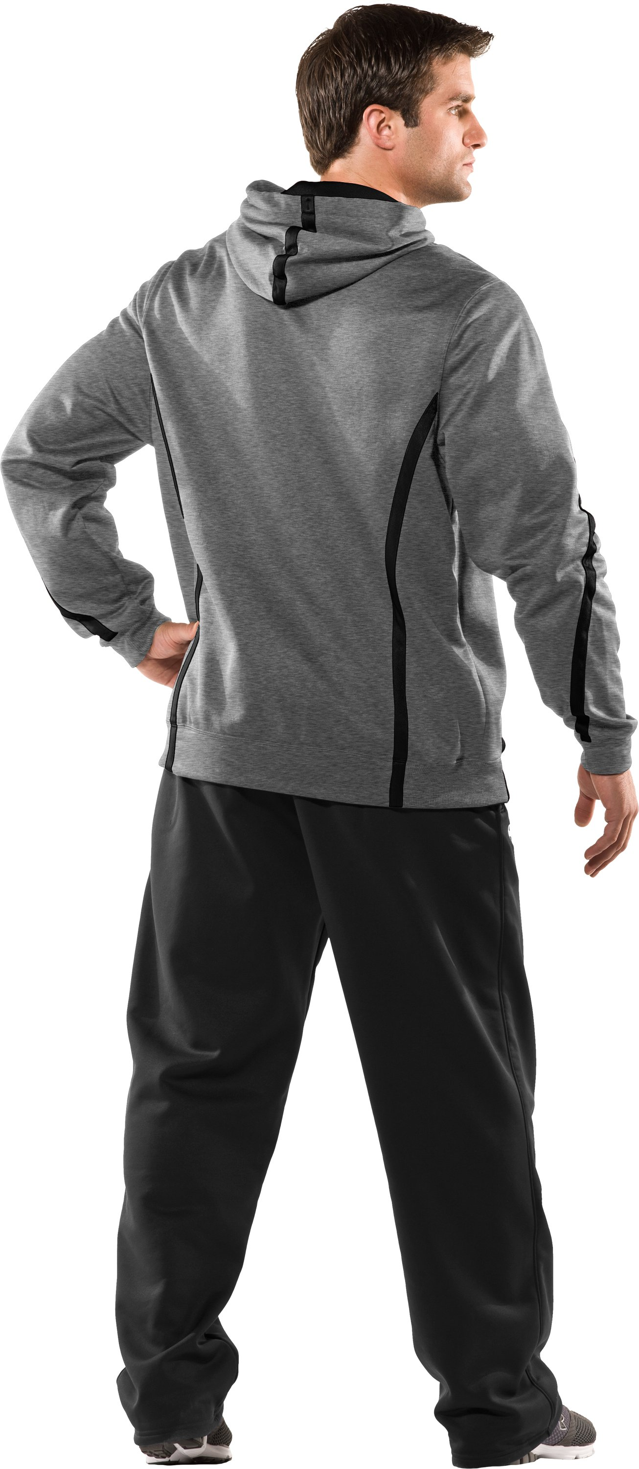 Men's UA Signature On-Field Hoodie, True Gray Heather, Back