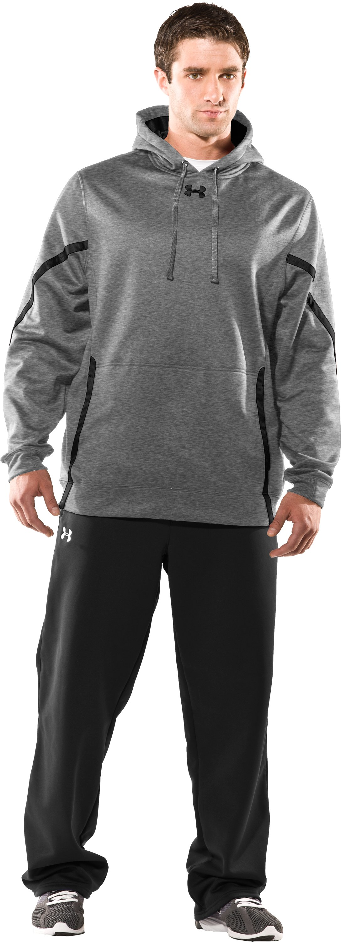 Men's UA Signature On-Field Hoodie, True Gray Heather, Front
