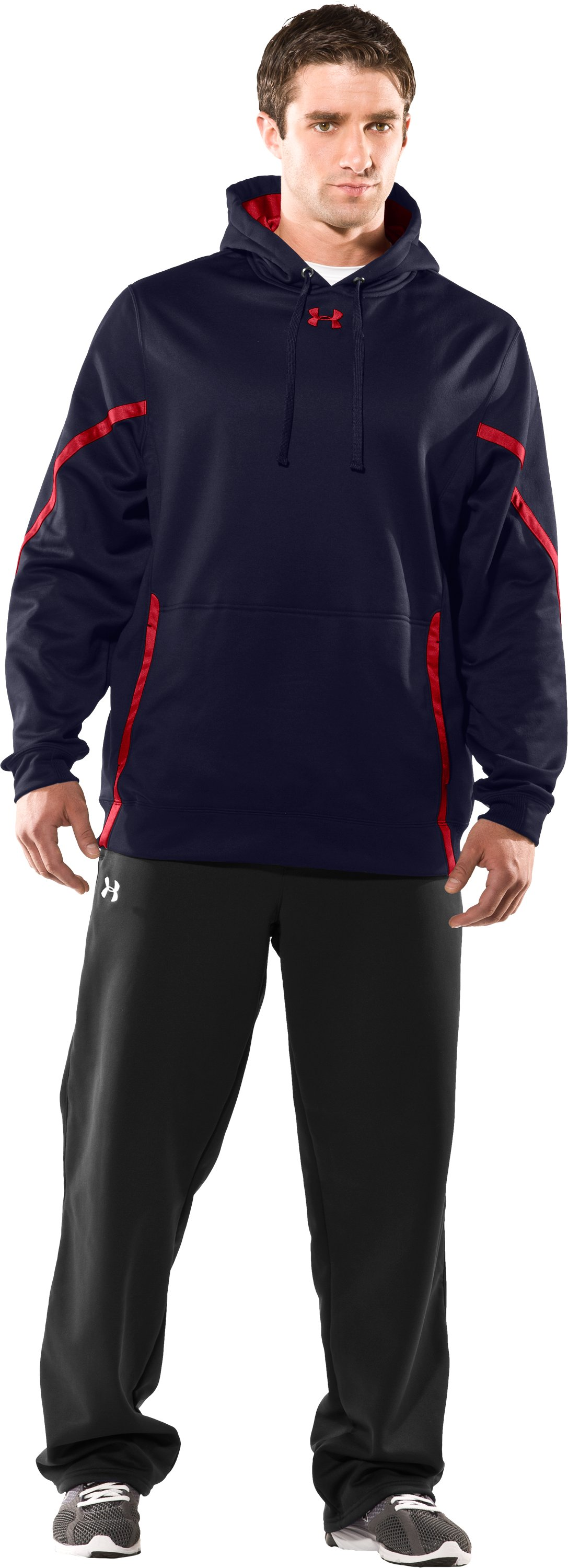 Men's UA Signature On-Field Hoodie, Midnight Navy, Front