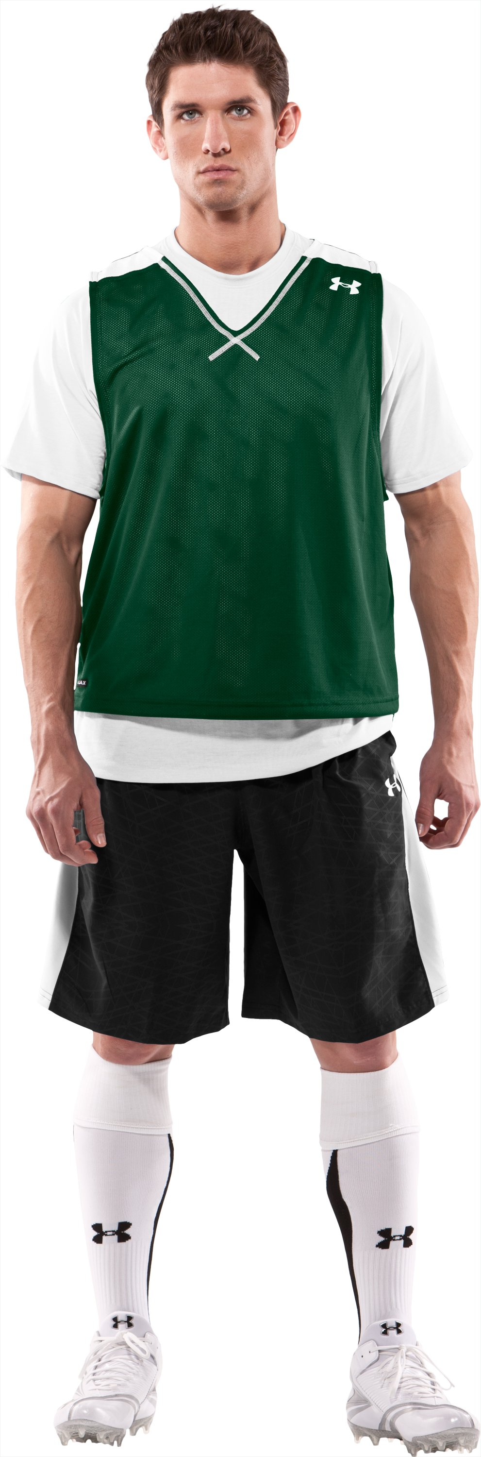 Men's Practice Jersey, Forest Green, Front
