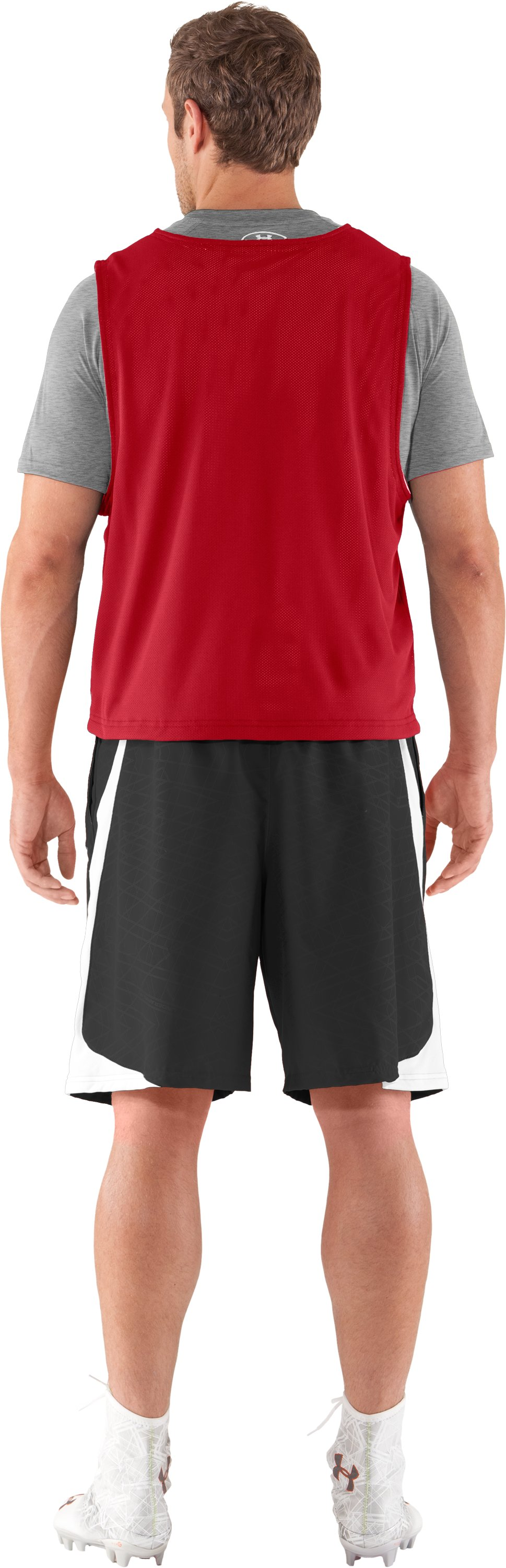 Men's Practice Jersey, Red, Back